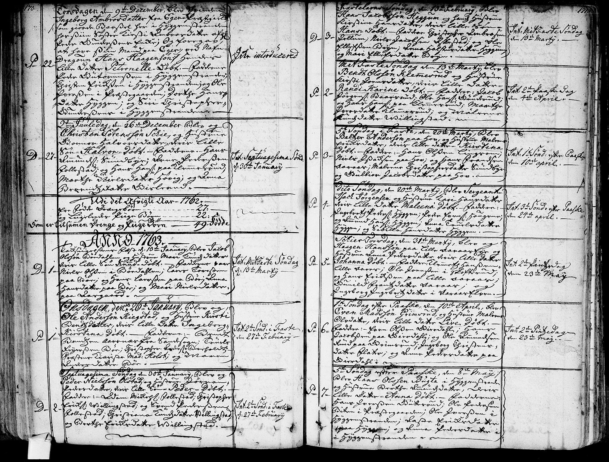 SAKO, Røyken kirkebøker, G/Ga/L0001: Klokkerbok nr. 1, 1740-1768, s. 170-171