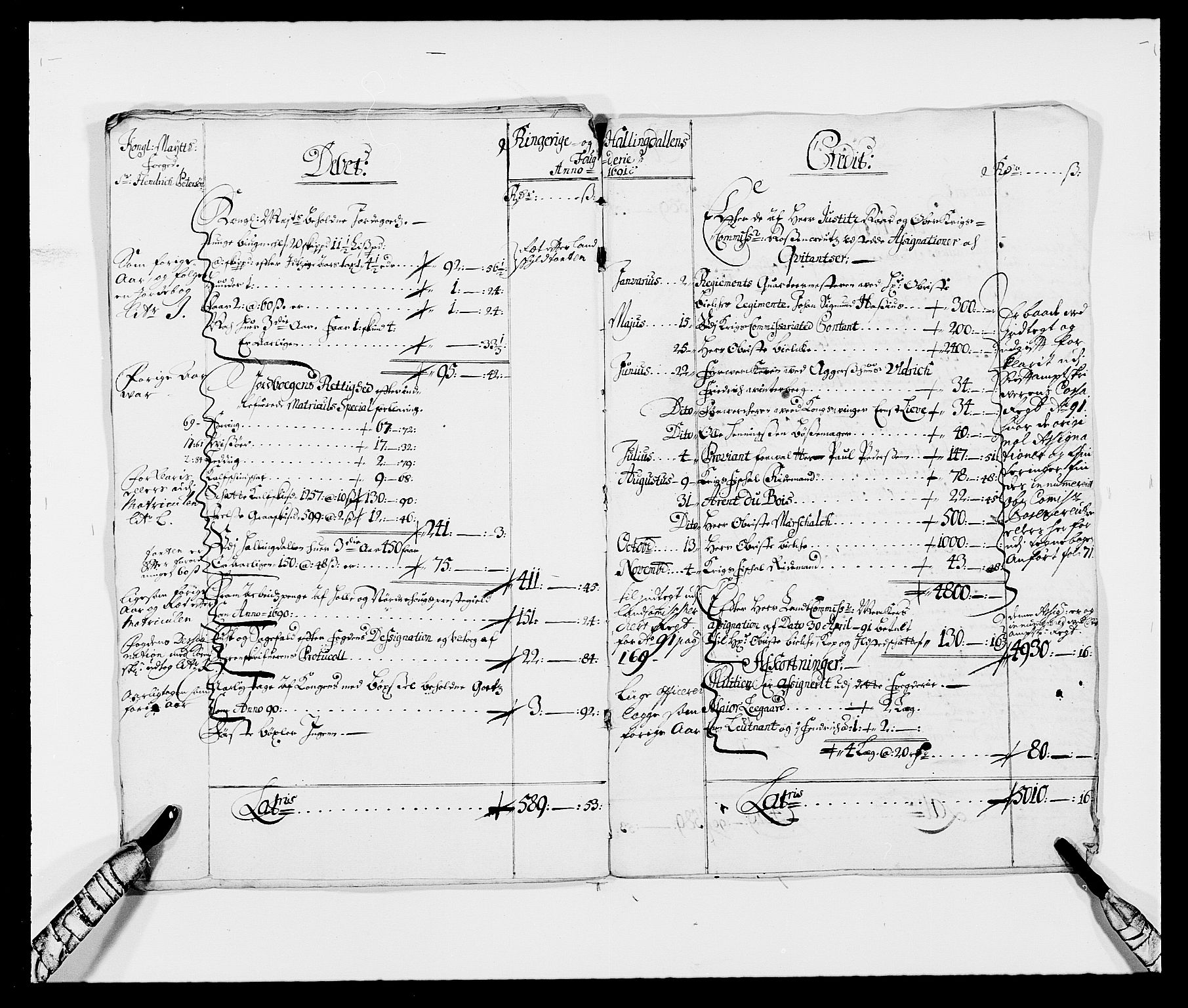 RA, Rentekammeret inntil 1814, Reviderte regnskaper, Fogderegnskap, R21/L1448: Fogderegnskap Ringerike og Hallingdal, 1690-1692, s. 6