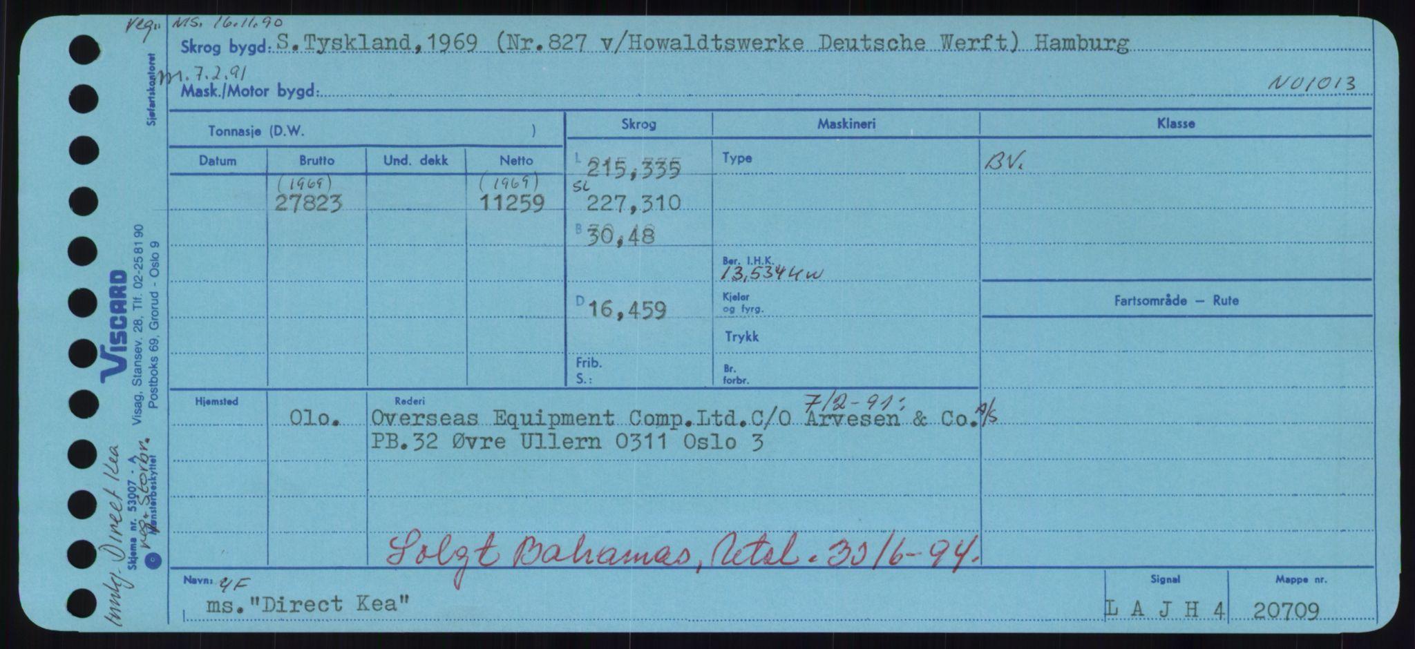RA, Sjøfartsdirektoratet med forløpere, Skipsmålingen, H/Hd/L0008: Fartøy, C-D, s. 507