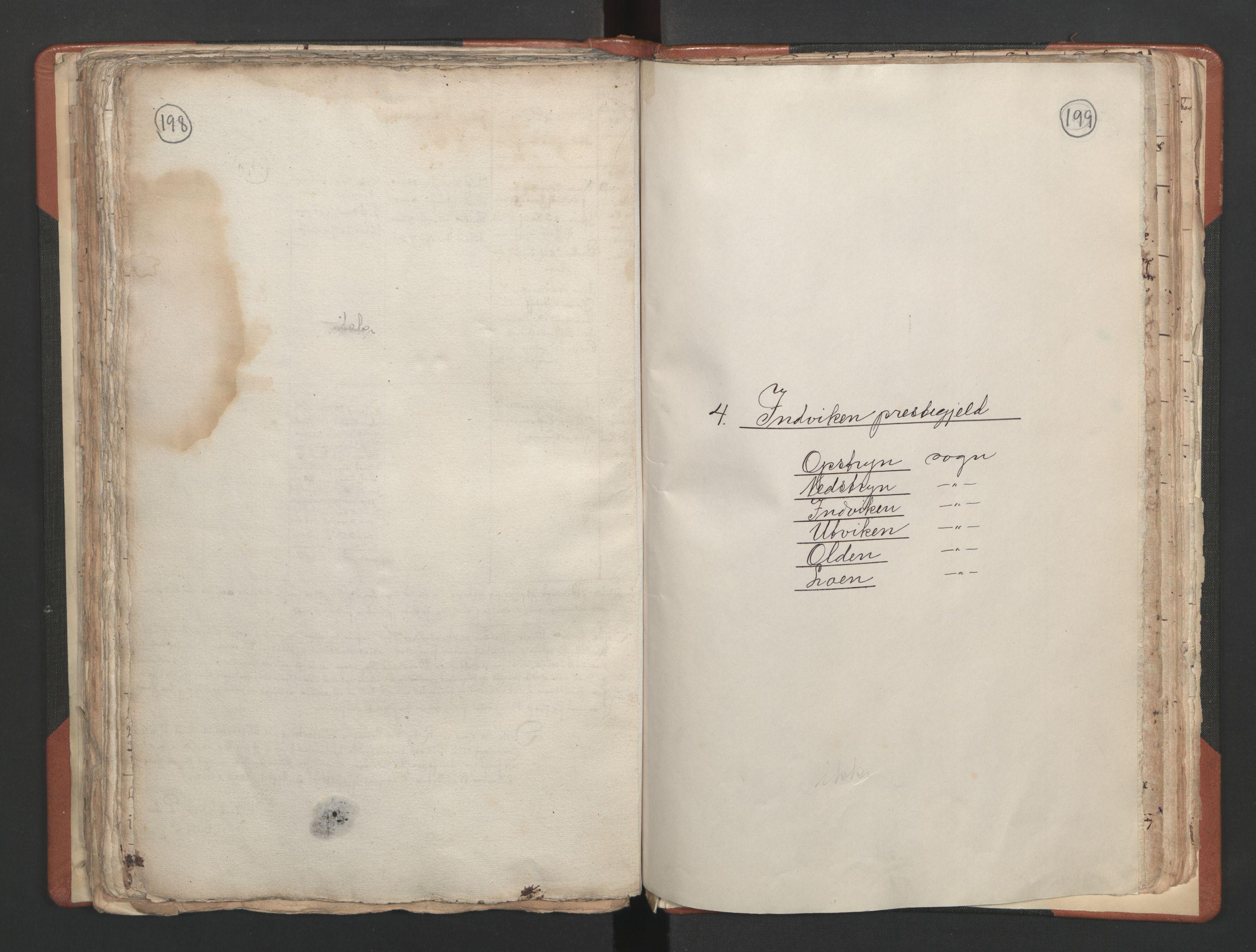 RA, Sogneprestenes manntall 1664-1666, nr. 25: Nordfjord prosti, 1664-1666, s. 198-199