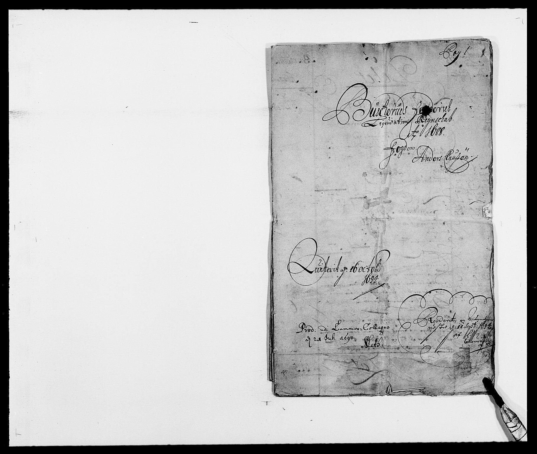 RA, Rentekammeret inntil 1814, Reviderte regnskaper, Fogderegnskap, R25/L1679: Fogderegnskap Buskerud, 1687-1688, s. 244