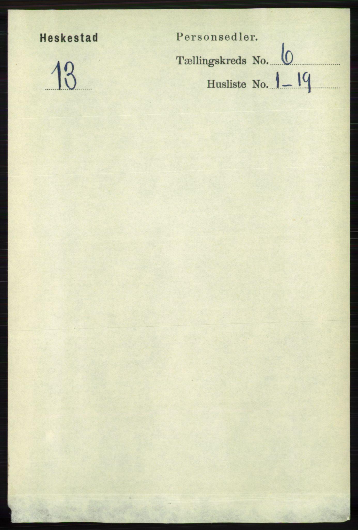RA, Folketelling 1891 for 1113 Heskestad herred, 1891, s. 1014