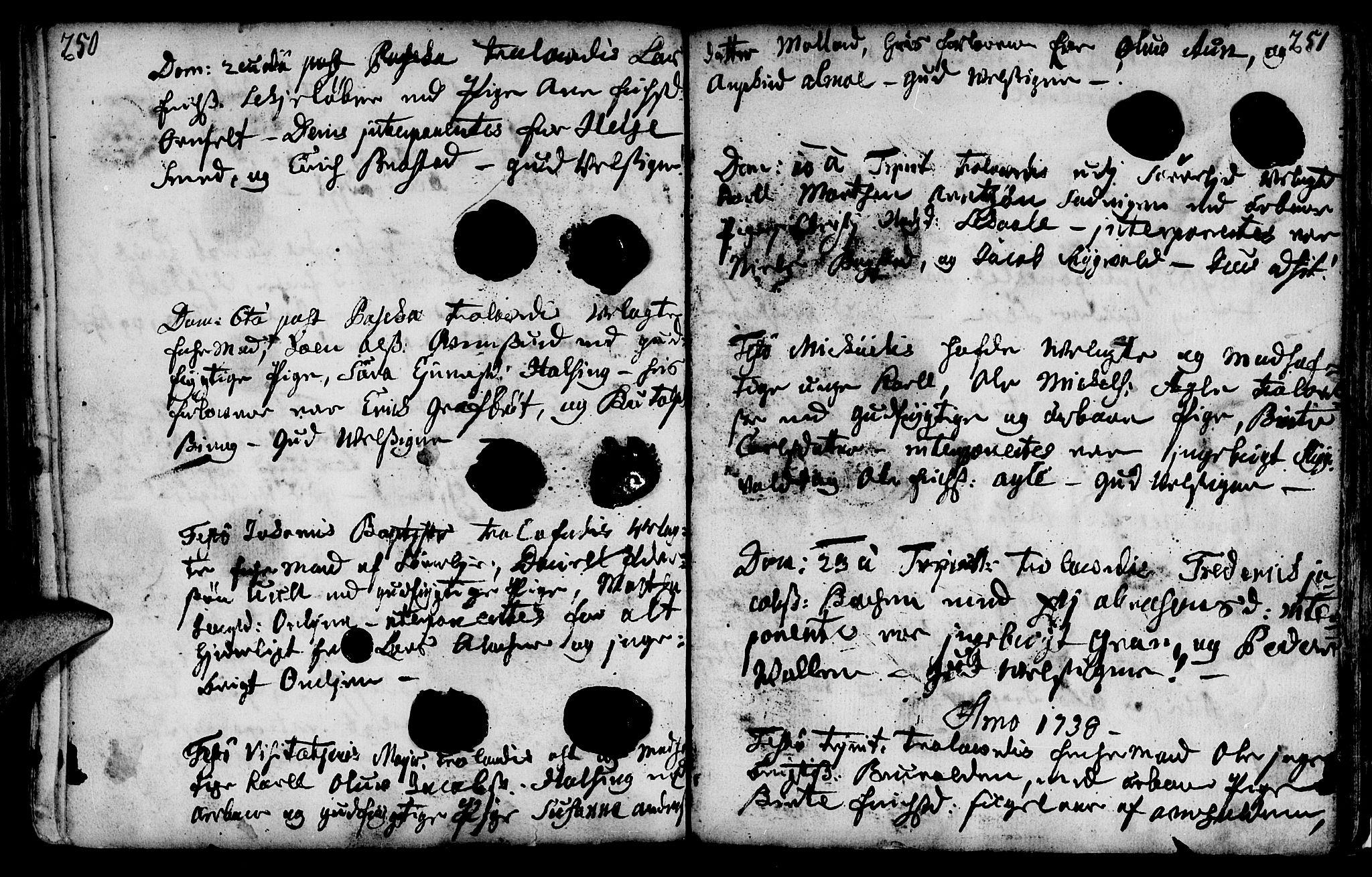 SAT, Ministerialprotokoller, klokkerbøker og fødselsregistre - Nord-Trøndelag, 749/L0467: Ministerialbok nr. 749A01, 1733-1787, s. 250-251