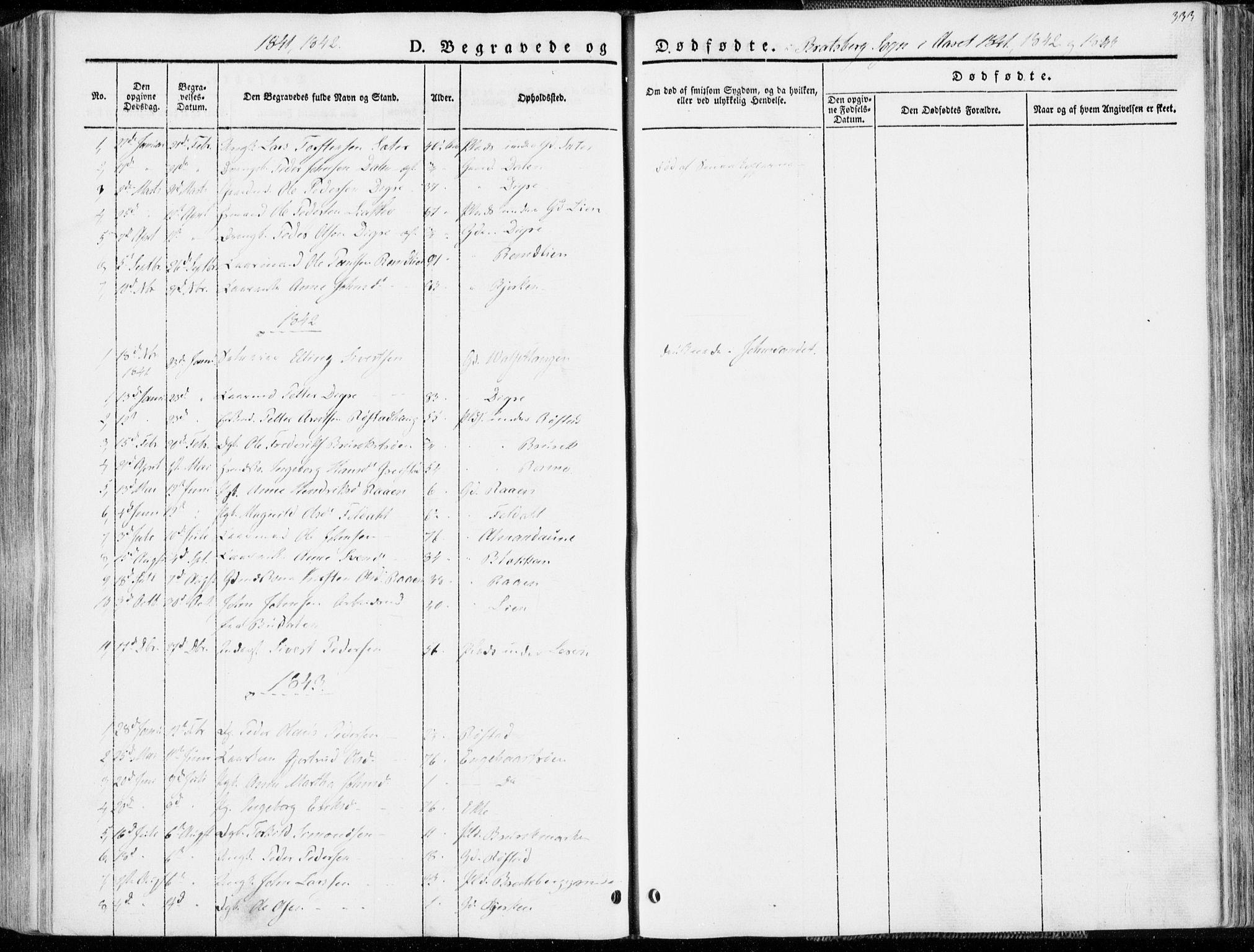 SAT, Ministerialprotokoller, klokkerbøker og fødselsregistre - Sør-Trøndelag, 606/L0290: Ministerialbok nr. 606A05, 1841-1847, s. 333