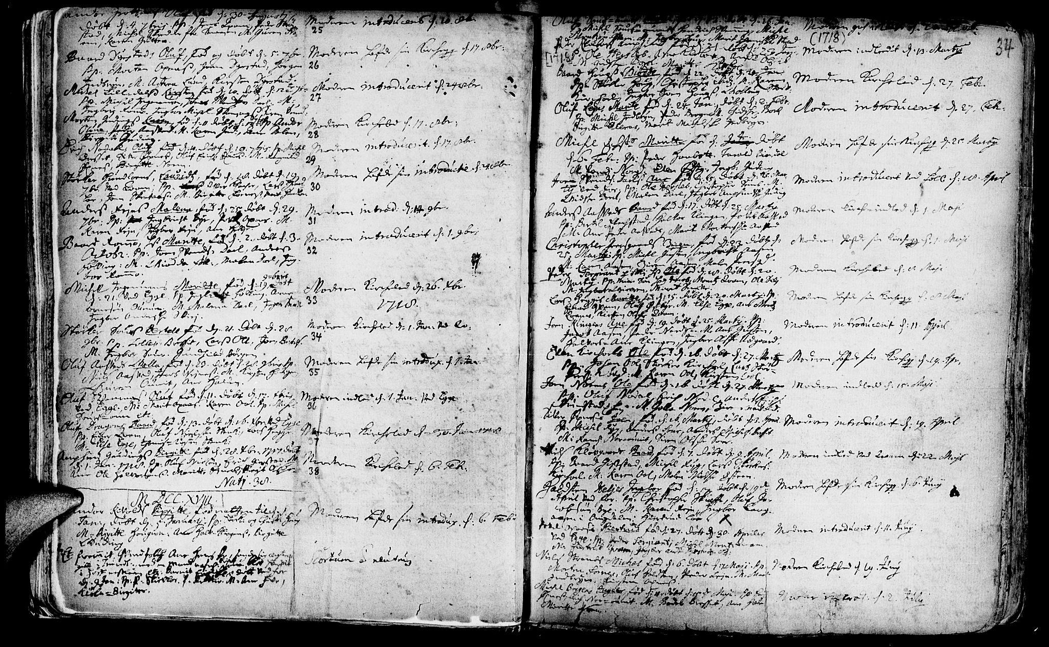SAT, Ministerialprotokoller, klokkerbøker og fødselsregistre - Nord-Trøndelag, 746/L0439: Ministerialbok nr. 746A01, 1688-1759, s. 34