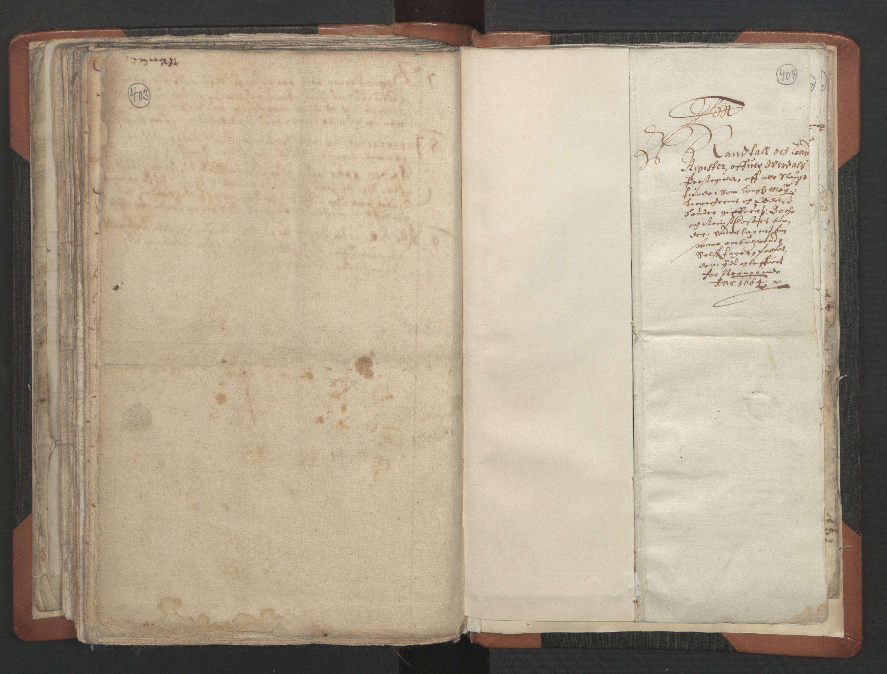 RA, Sogneprestenes manntall 1664-1666, nr. 32: Innherad prosti, 1664-1666, s. 403-404