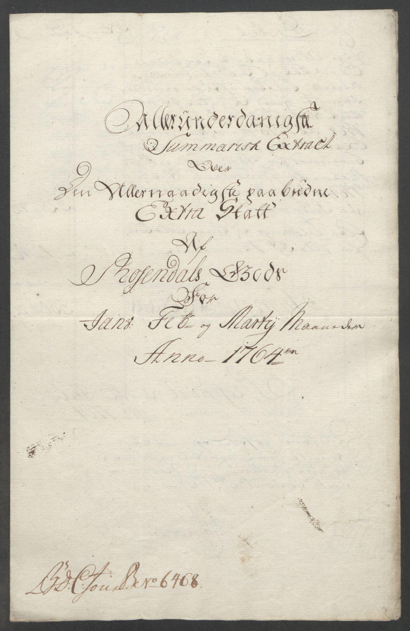 RA, Rentekammeret inntil 1814, Reviderte regnskaper, Fogderegnskap, R49/L3157: Ekstraskatten Rosendal Baroni, 1762-1772, s. 76