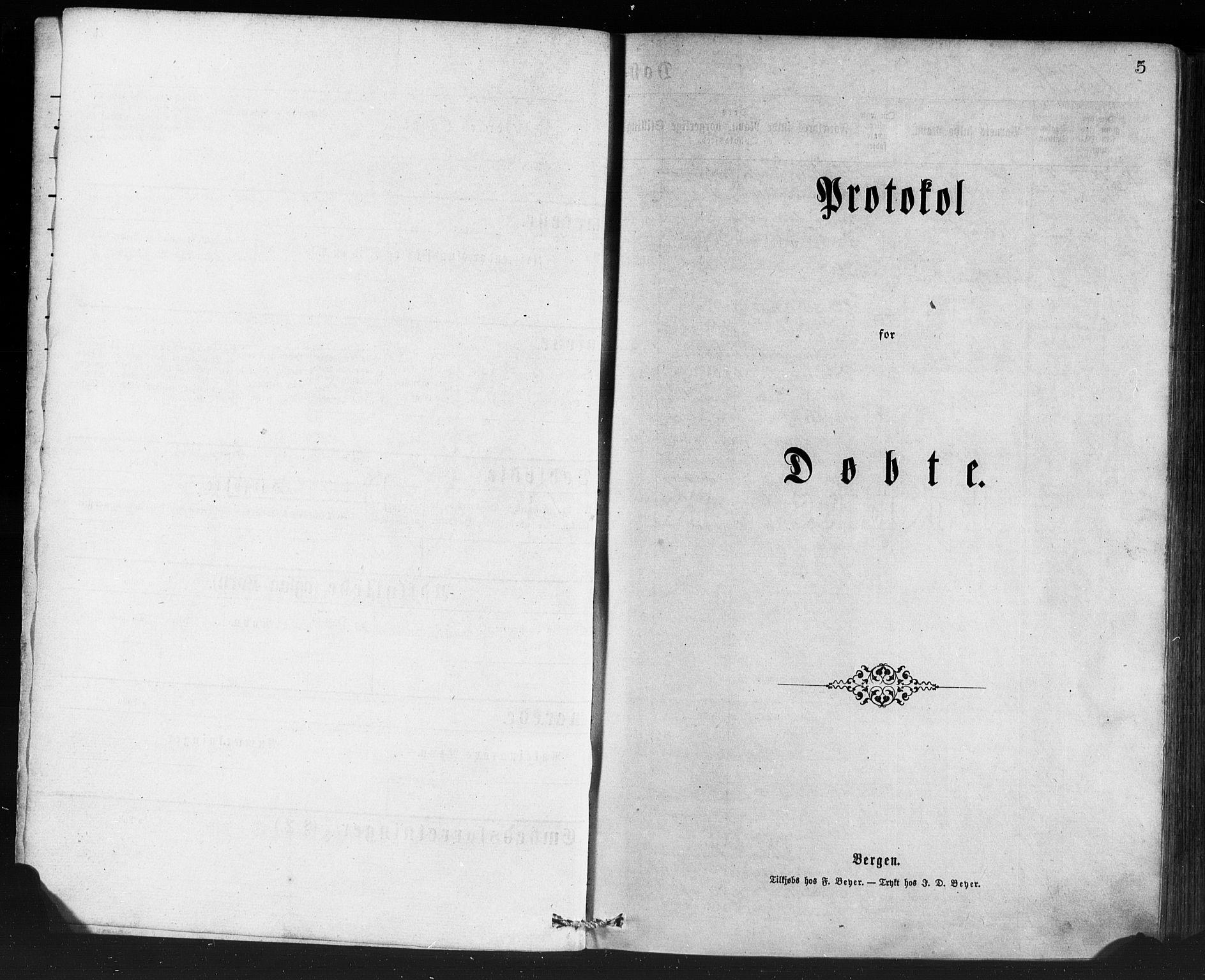 SAB, Manger sokneprestembete, H/Haa: Ministerialbok nr. A 8, 1871-1880, s. 5