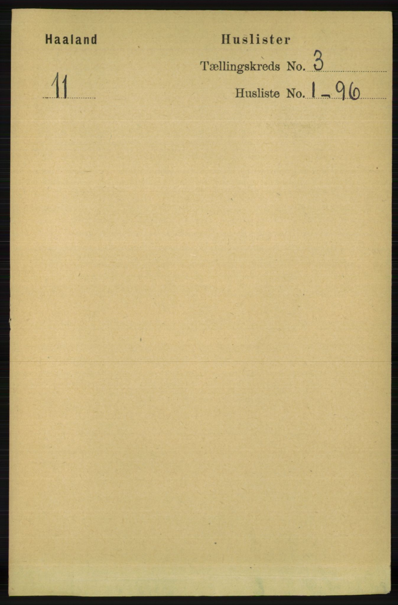 RA, Folketelling 1891 for 1124 Haaland herred, 1891, s. 1605