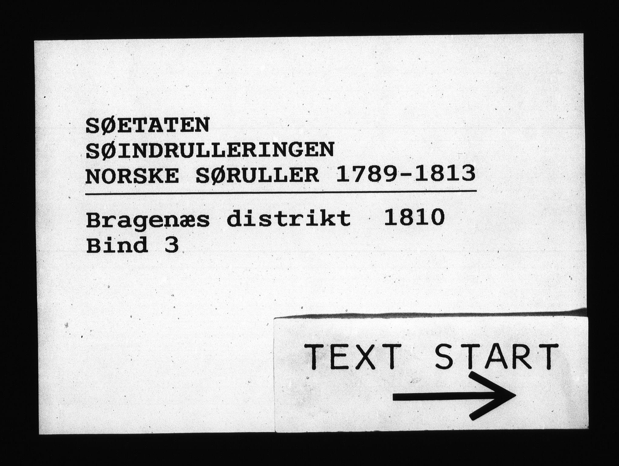 RA, Sjøetaten, F/L0159: Bragernes distrikt, bind 3, 1810