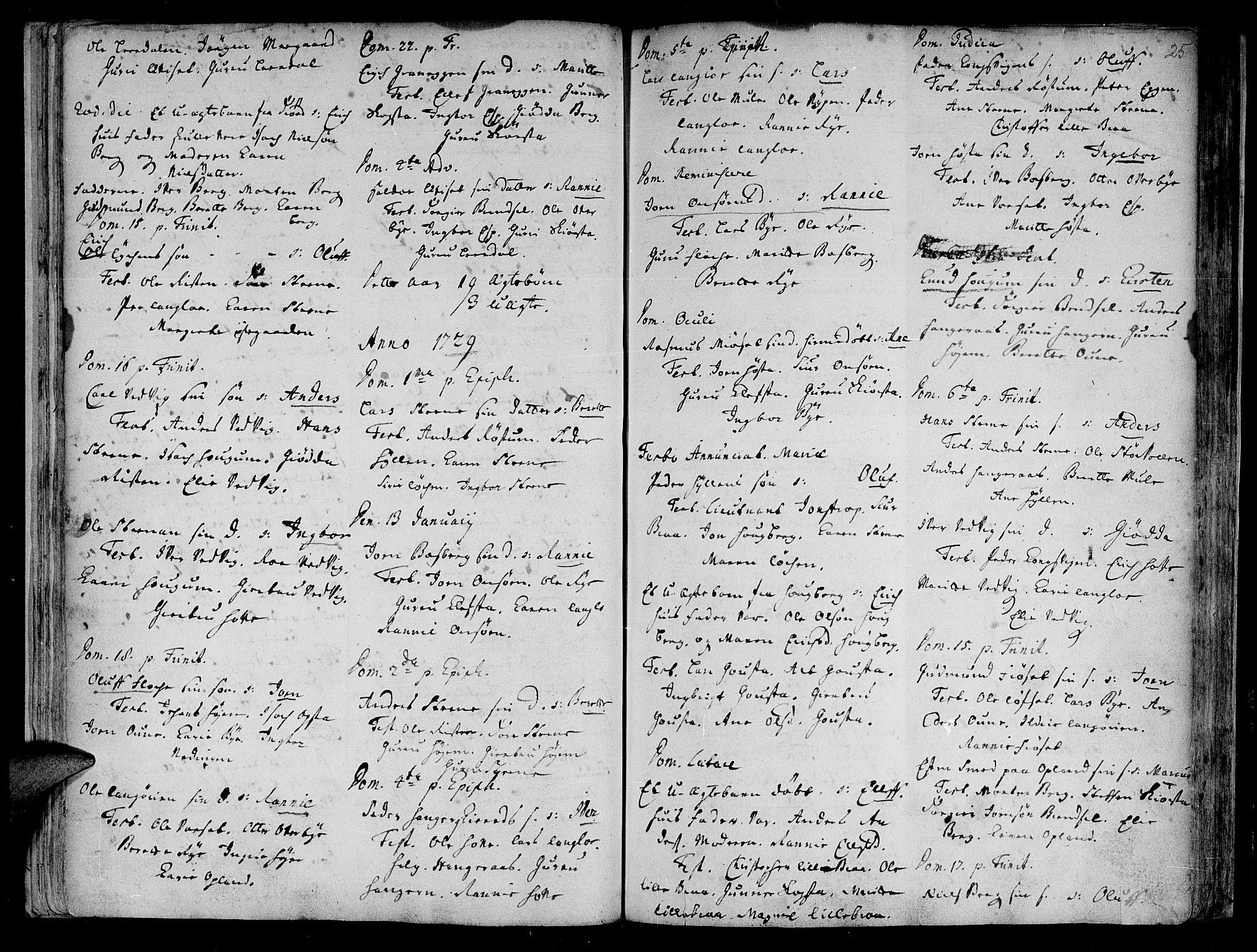SAT, Ministerialprotokoller, klokkerbøker og fødselsregistre - Sør-Trøndelag, 612/L0368: Ministerialbok nr. 612A02, 1702-1753, s. 25