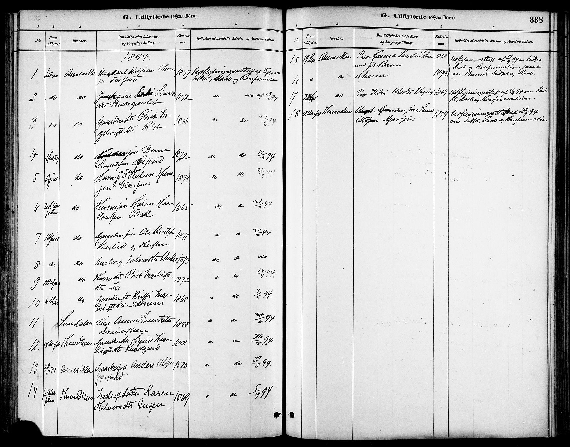 SAT, Ministerialprotokoller, klokkerbøker og fødselsregistre - Sør-Trøndelag, 678/L0901: Ministerialbok nr. 678A10, 1881-1894, s. 338