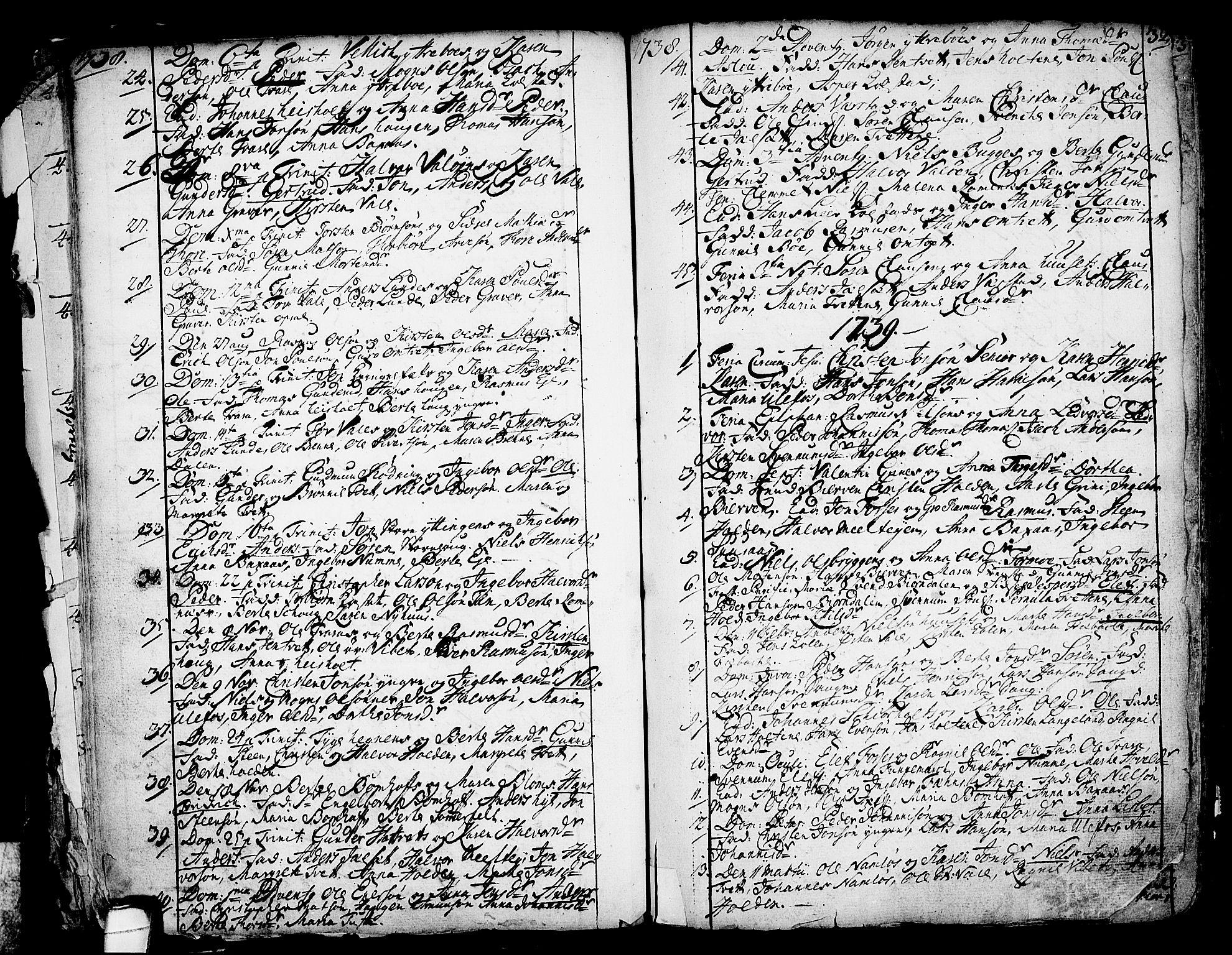 SAKO, Holla kirkebøker, F/Fa/L0001: Ministerialbok nr. 1, 1717-1779, s. 32