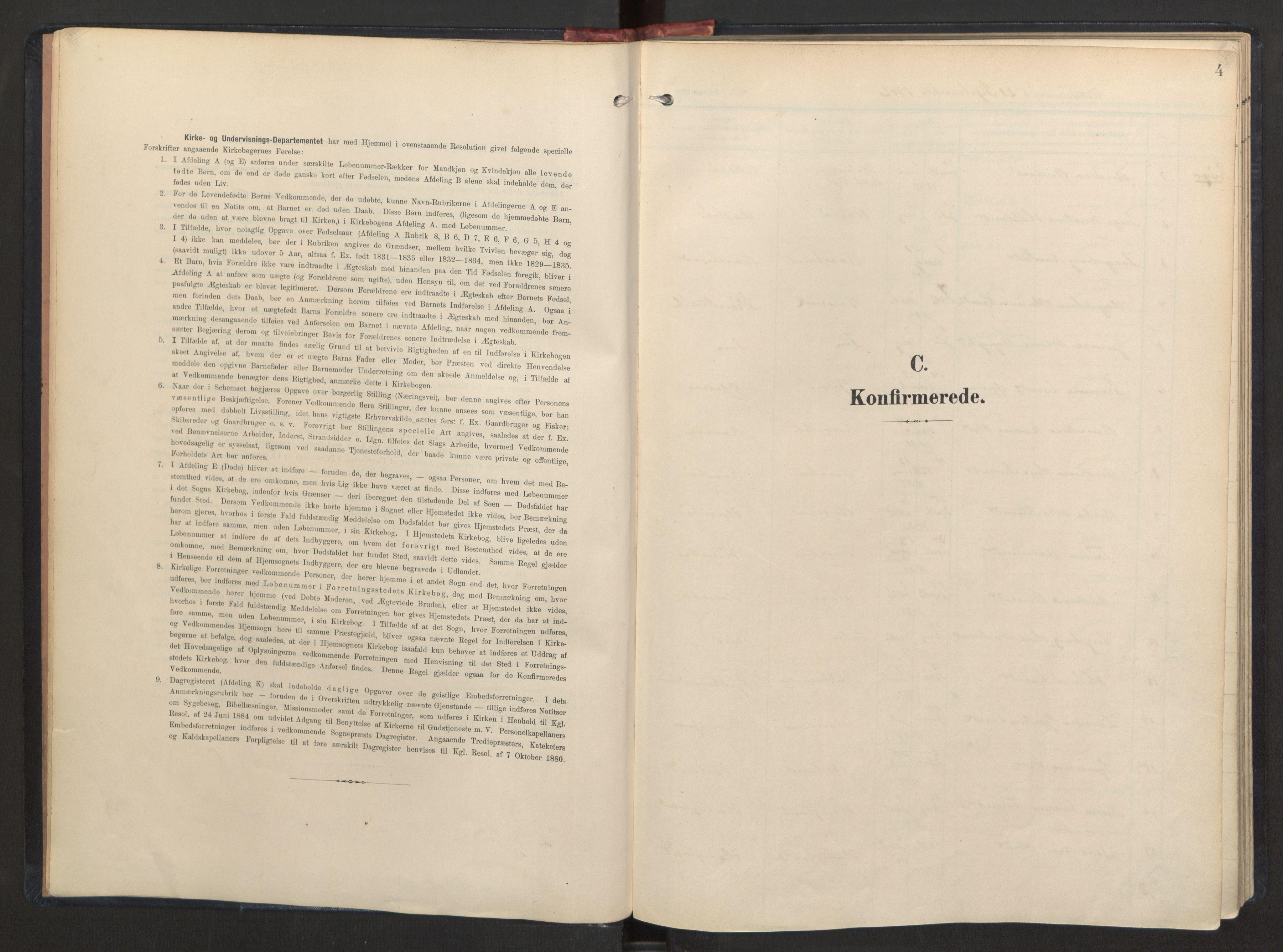 SAB, Herdla Sokneprestembete, H/Haa: Ministerialbok nr. A 7, 1902-1923, s. 4