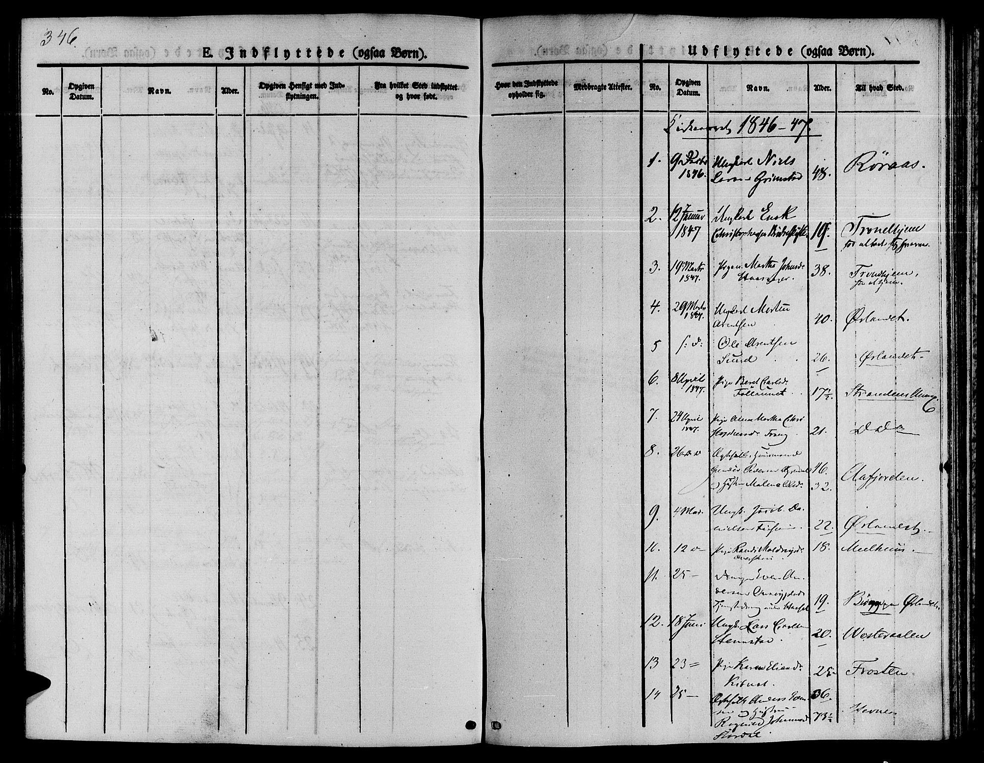 SAT, Ministerialprotokoller, klokkerbøker og fødselsregistre - Sør-Trøndelag, 646/L0610: Ministerialbok nr. 646A08, 1837-1847, s. 346