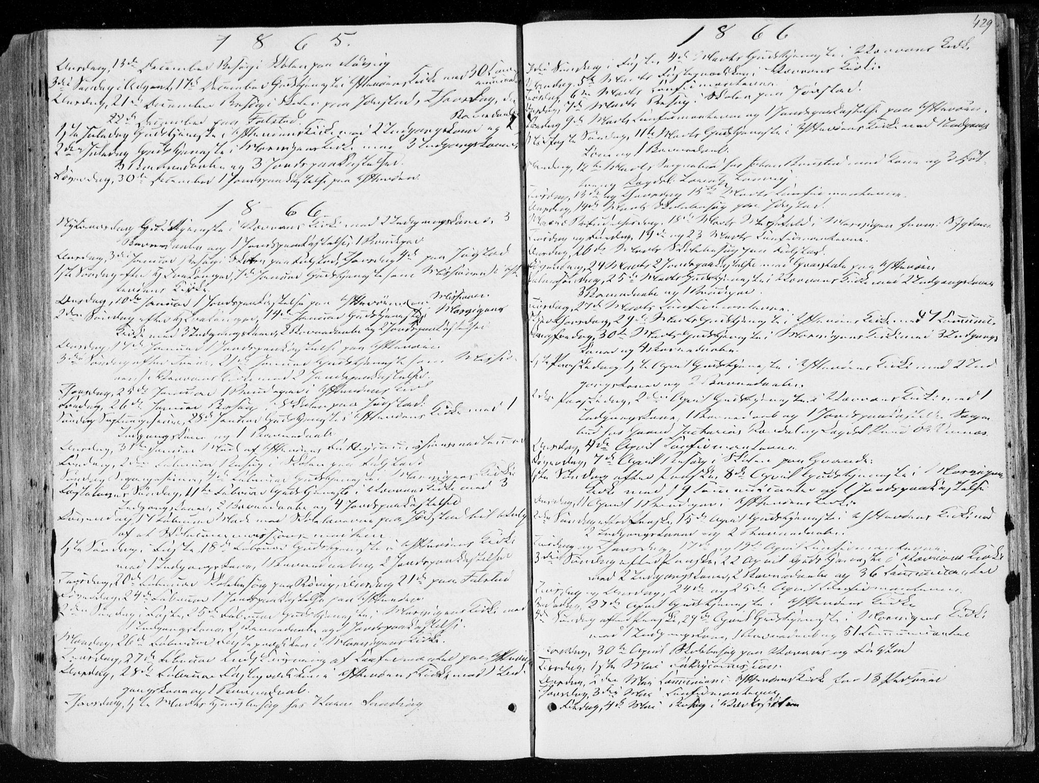 SAT, Ministerialprotokoller, klokkerbøker og fødselsregistre - Nord-Trøndelag, 722/L0218: Ministerialbok nr. 722A05, 1843-1868, s. 429
