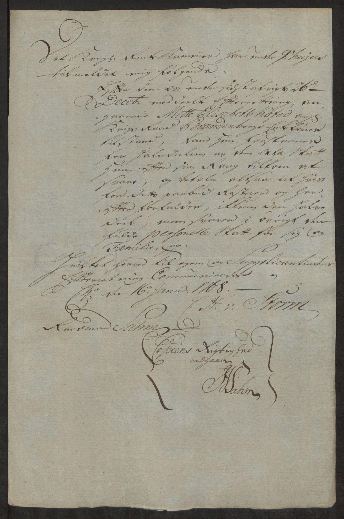 RA, Rentekammeret inntil 1814, Reviderte regnskaper, Byregnskaper, R/Rg/L0144: [G4] Kontribusjonsregnskap, 1762-1767, s. 534