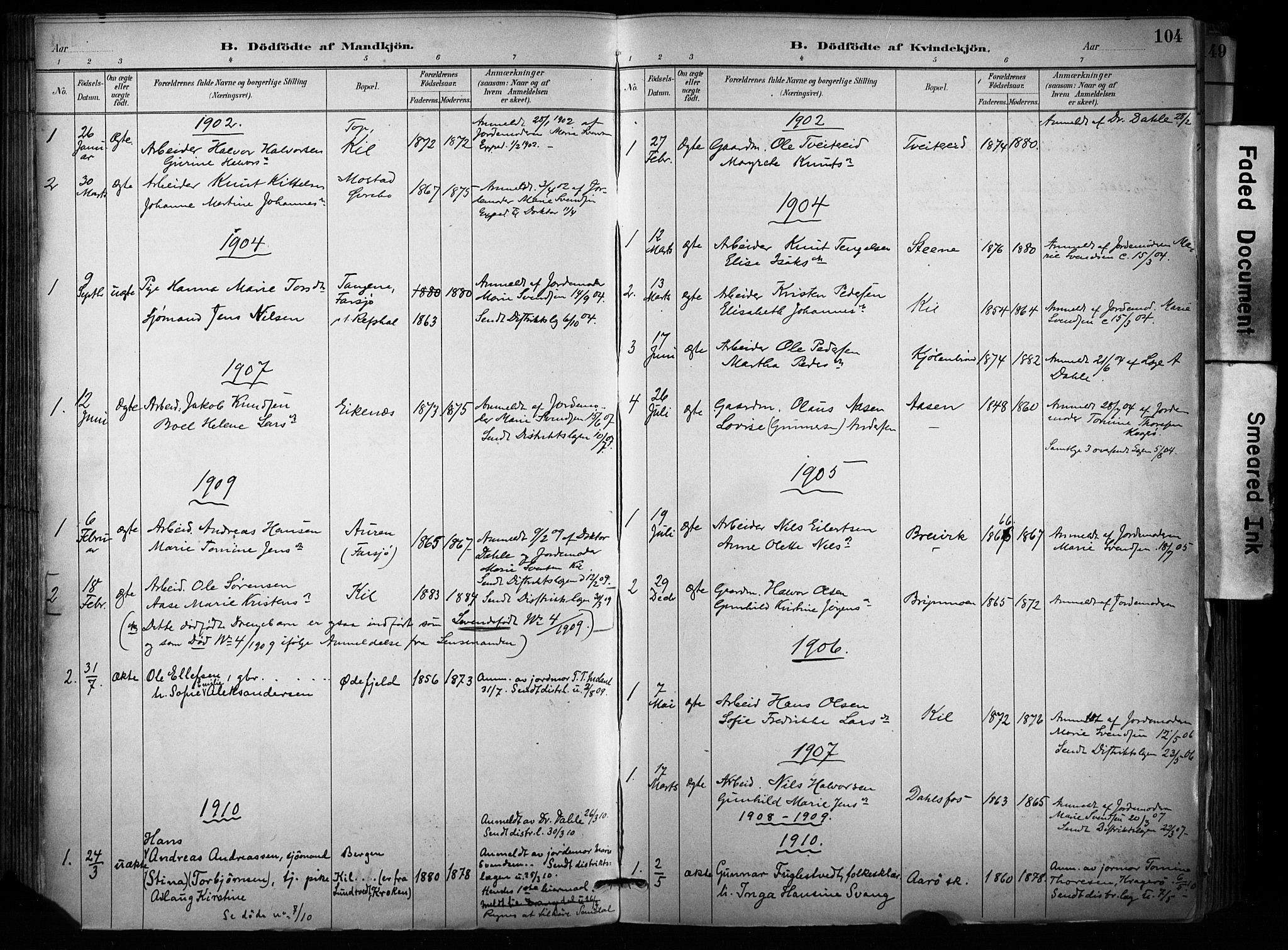 SAKO, Sannidal kirkebøker, F/Fa/L0015: Ministerialbok nr. 15, 1884-1899, s. 104