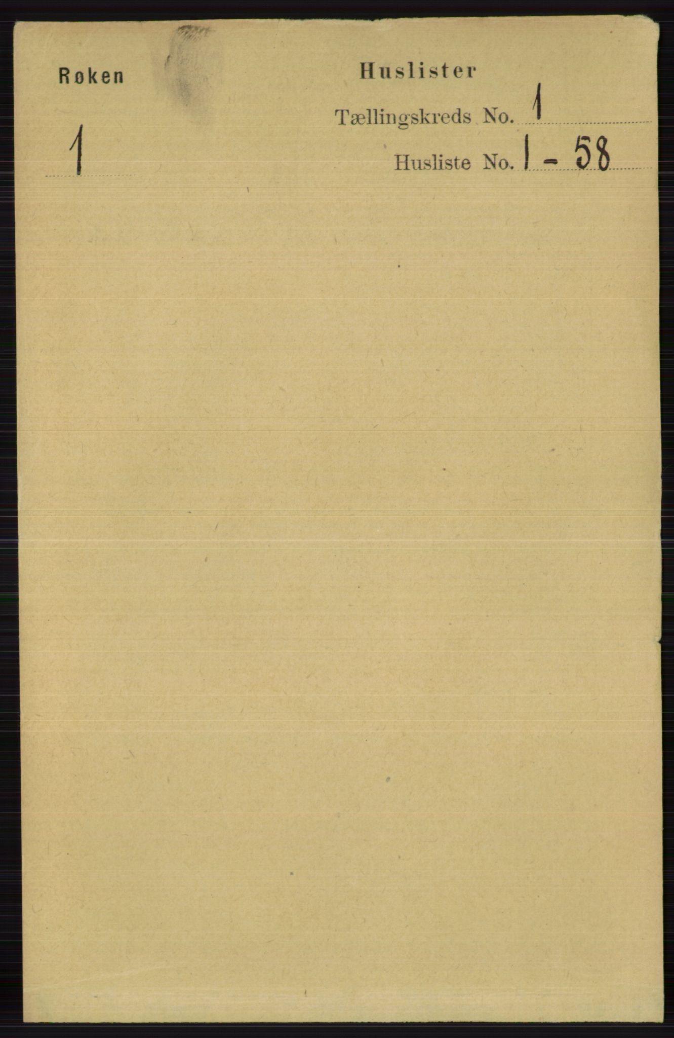 RA, Folketelling 1891 for 0627 Røyken herred, 1891, s. 22