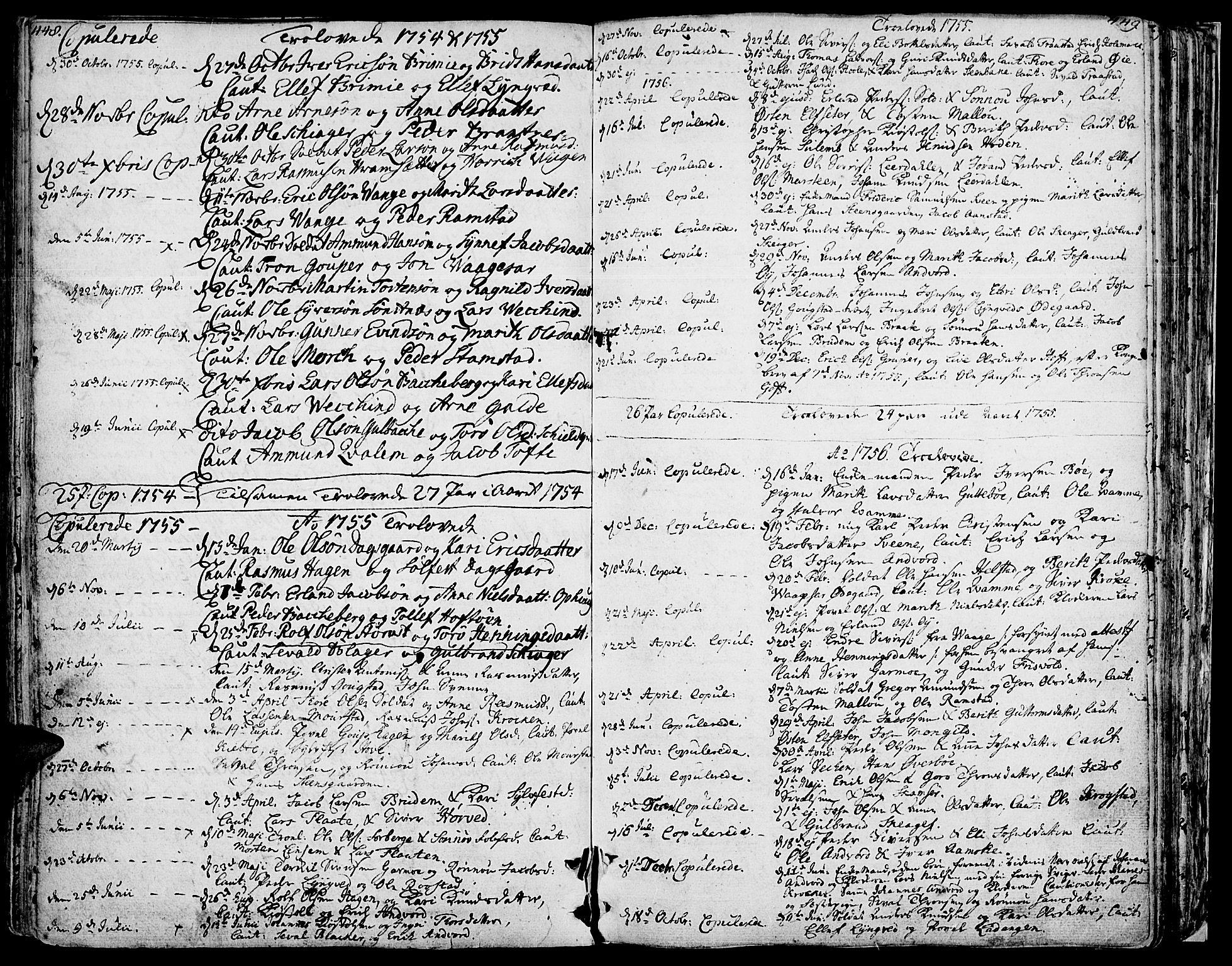 SAH, Lom prestekontor, K/L0002: Ministerialbok nr. 2, 1749-1801, s. 448-449
