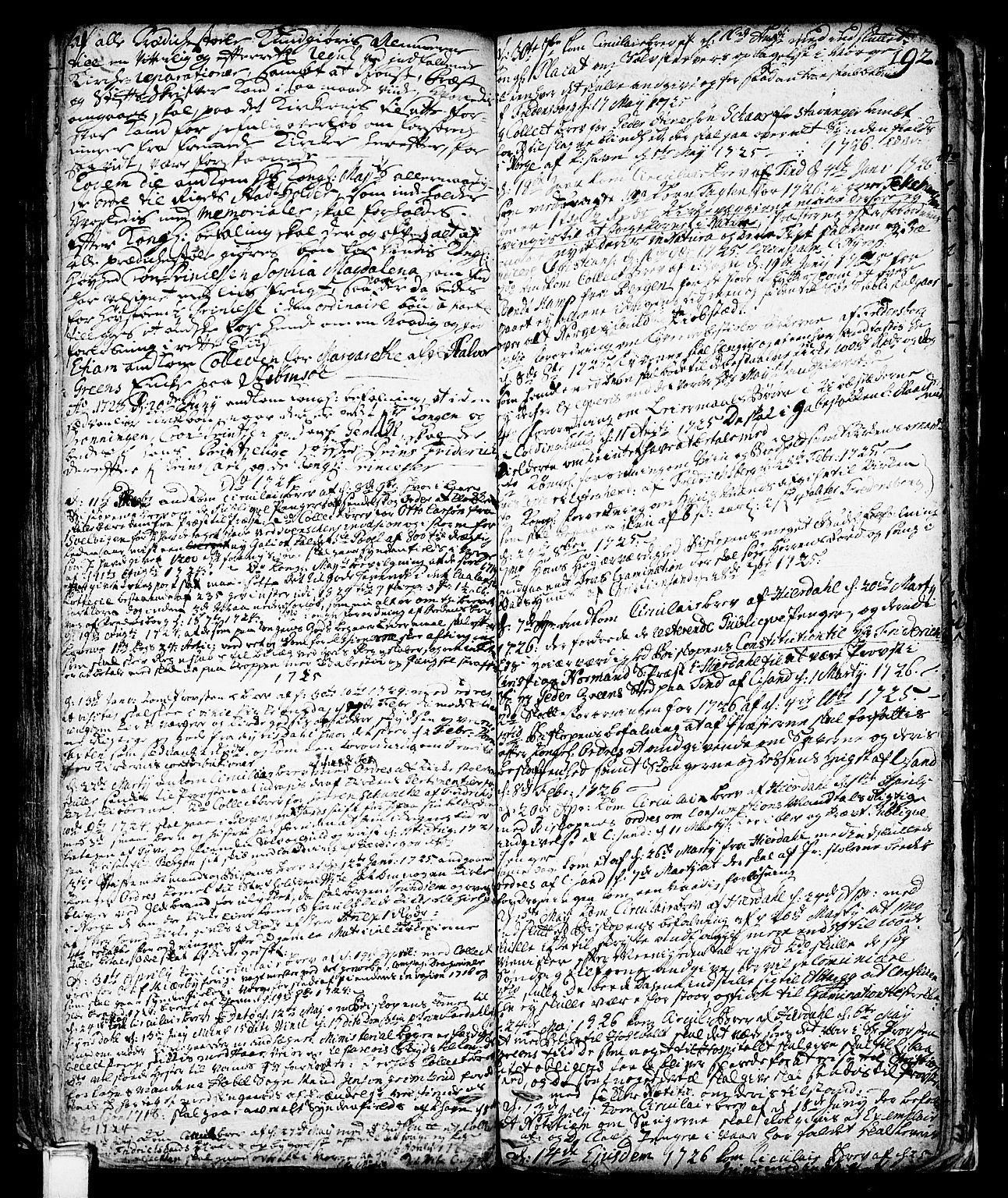 SAKO, Vinje kirkebøker, F/Fa/L0001: Ministerialbok nr. I 1, 1717-1766, s. 192