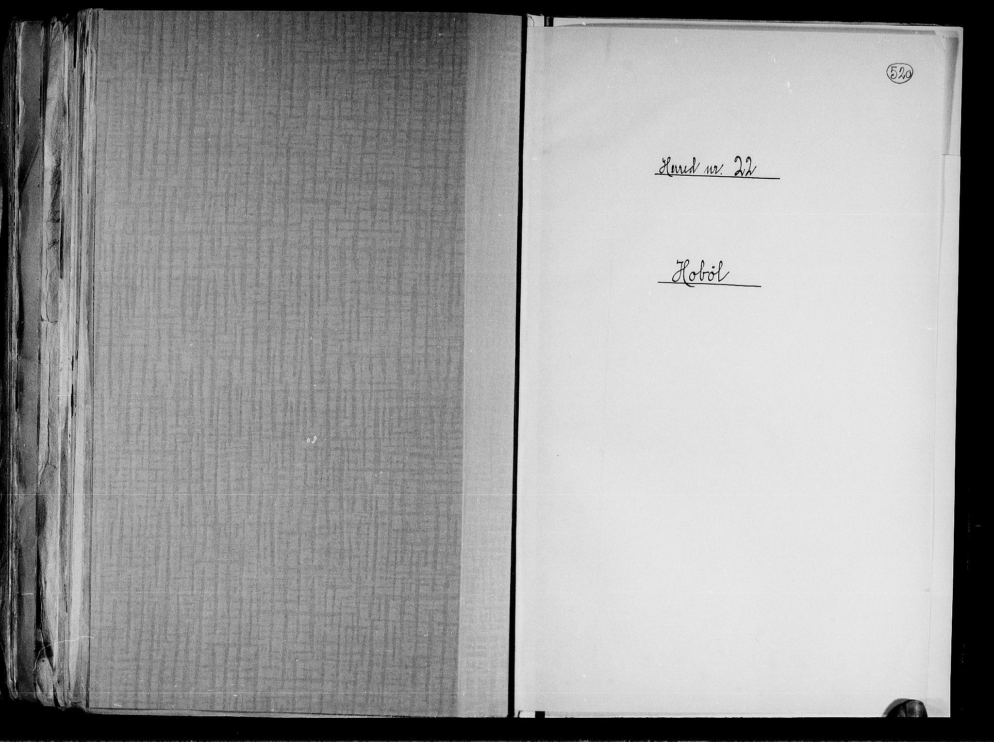 RA, Folketelling 1891 for 0138 Hobøl herred, 1891, s. 1