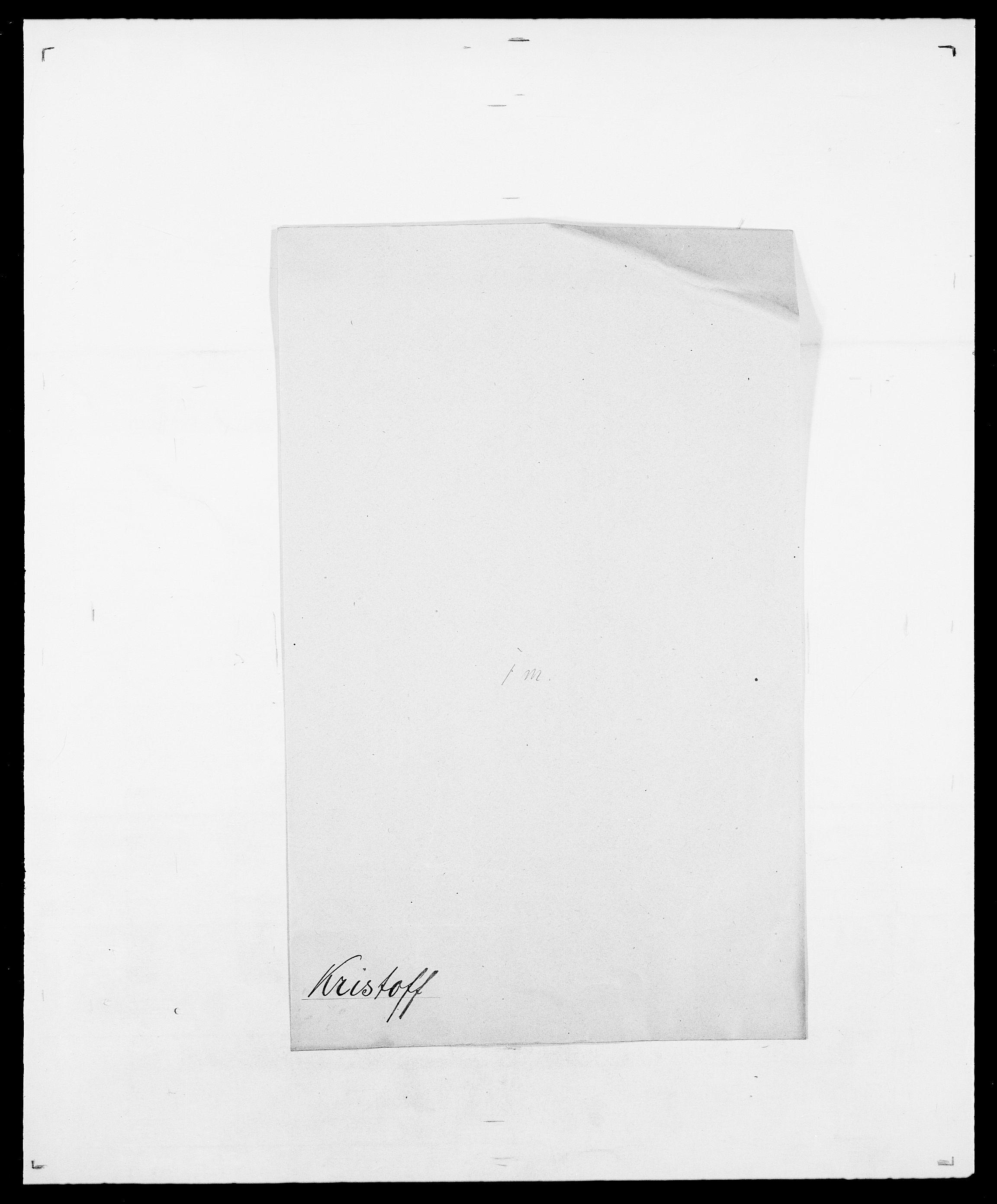 SAO, Delgobe, Charles Antoine - samling, D/Da/L0021: Klagenberg - Kristoft, s. 800