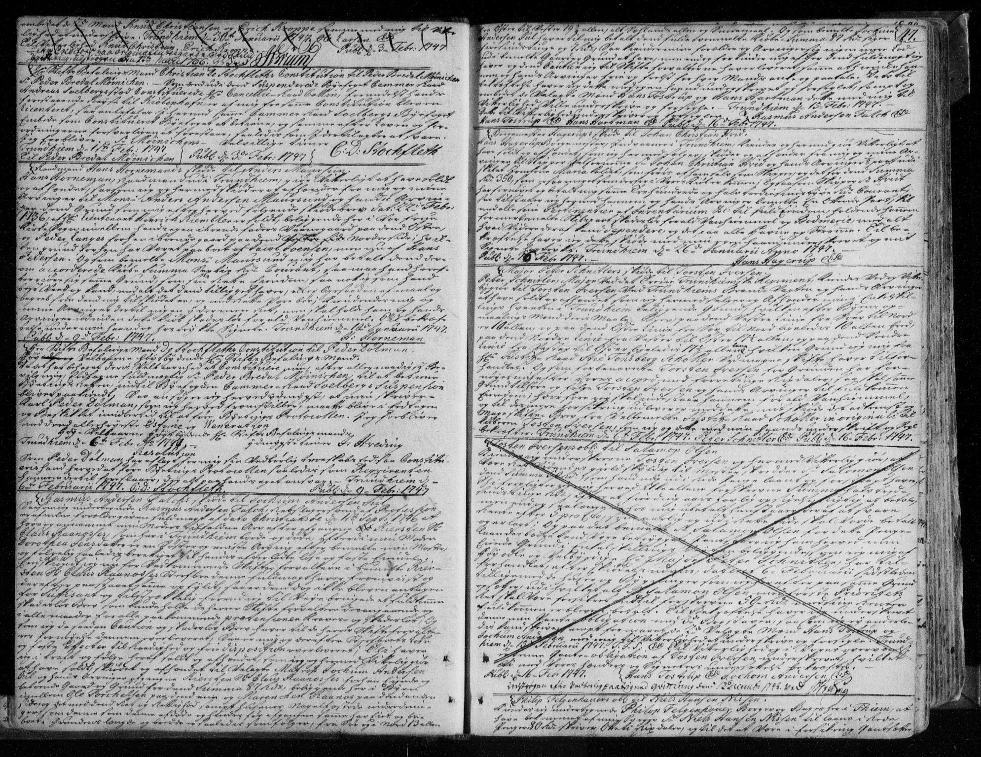 SAT, Trondheim byfogd, 2/2C/L0007: Pantebok nr. 6, 1746-1761, s. 47