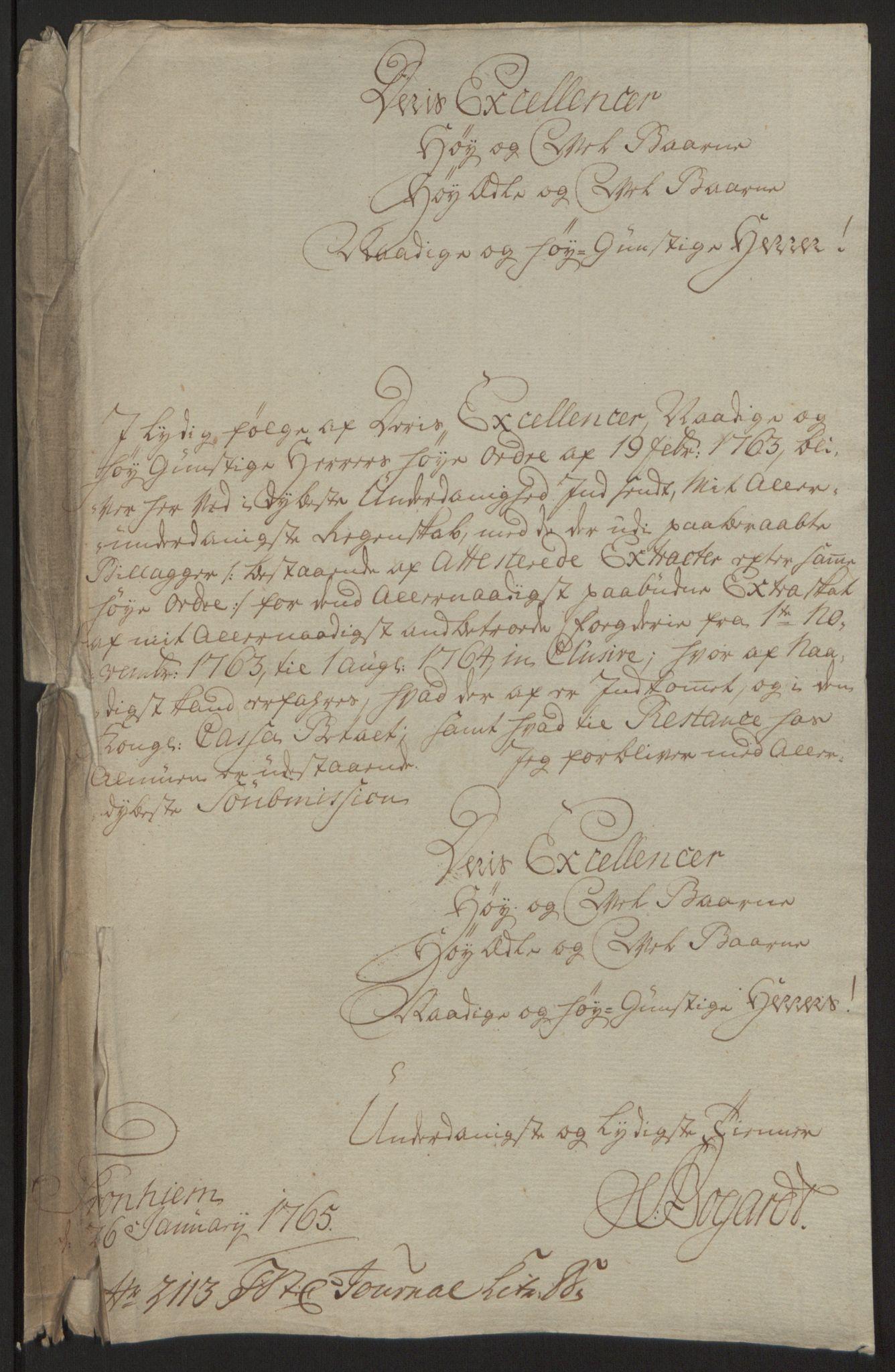RA, Rentekammeret inntil 1814, Reviderte regnskaper, Fogderegnskap, R64/L4502: Ekstraskatten Namdal, 1762-1772, s. 87