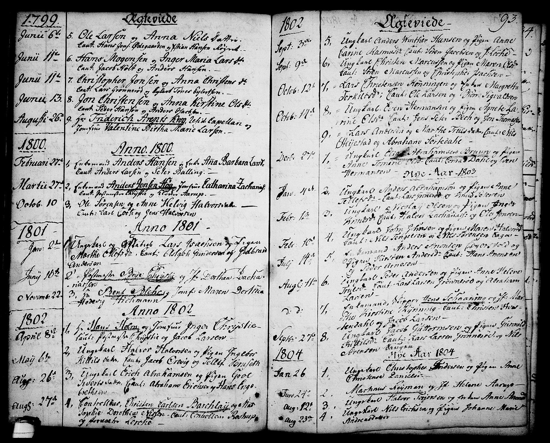 SAKO, Brevik kirkebøker, F/Fa/L0003: Ministerialbok nr. 3, 1764-1814, s. 93