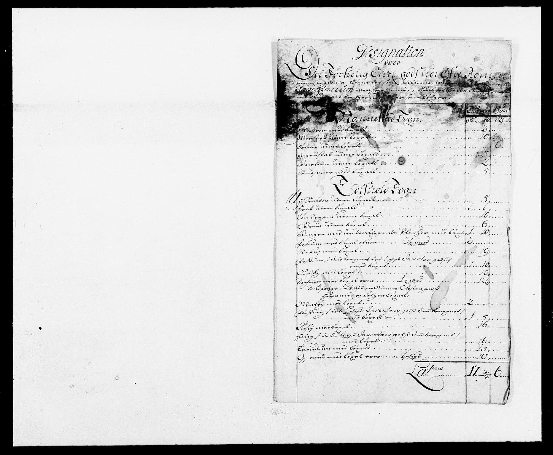 RA, Rentekammeret inntil 1814, Reviderte regnskaper, Fogderegnskap, R12/L0700: Fogderegnskap Øvre Romerike, 1687-1688, s. 265