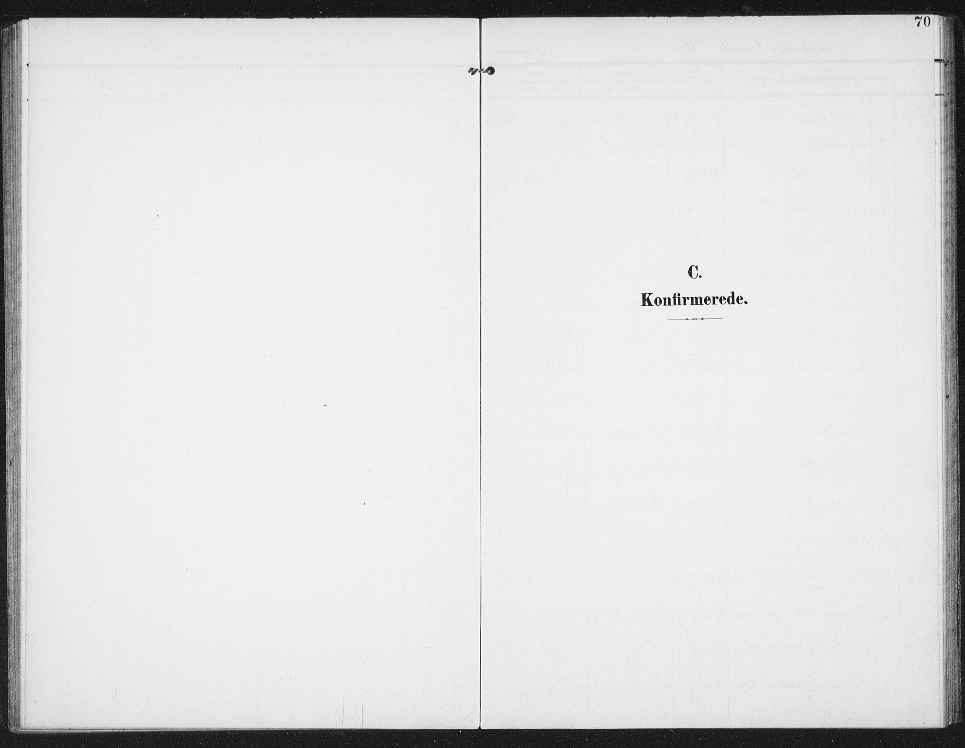 SAT, Ministerialprotokoller, klokkerbøker og fødselsregistre - Nordland, 886/L1221: Ministerialbok nr. 886A03, 1903-1913, s. 70
