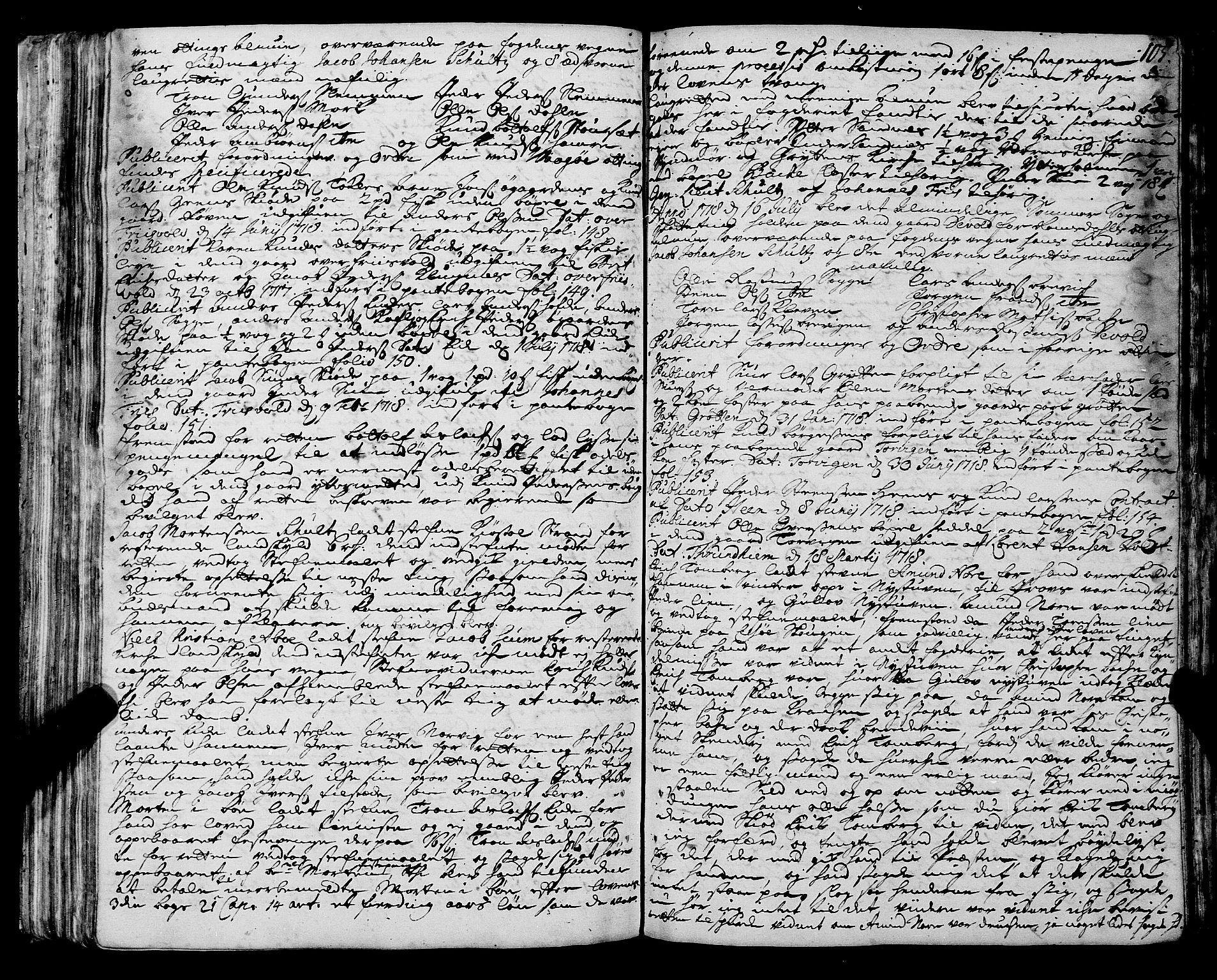 SAT, Romsdal sorenskriveri, 1/1A/L0008: Tingbok, 1714-1721, s. 104b-105a