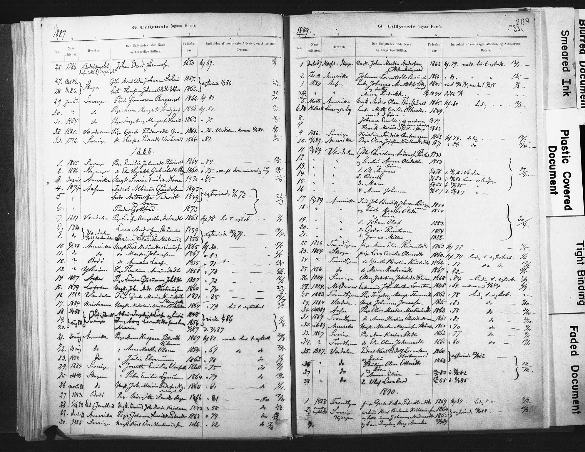 SAT, Ministerialprotokoller, klokkerbøker og fødselsregistre - Nord-Trøndelag, 721/L0207: Ministerialbok nr. 721A02, 1880-1911, s. 268