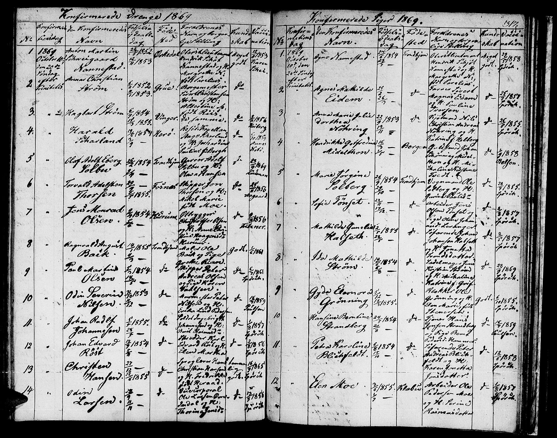 SAT, Ministerialprotokoller, klokkerbøker og fødselsregistre - Sør-Trøndelag, 601/L0070: Residerende kapellans bok nr. 601B03, 1821-1881, s. 317