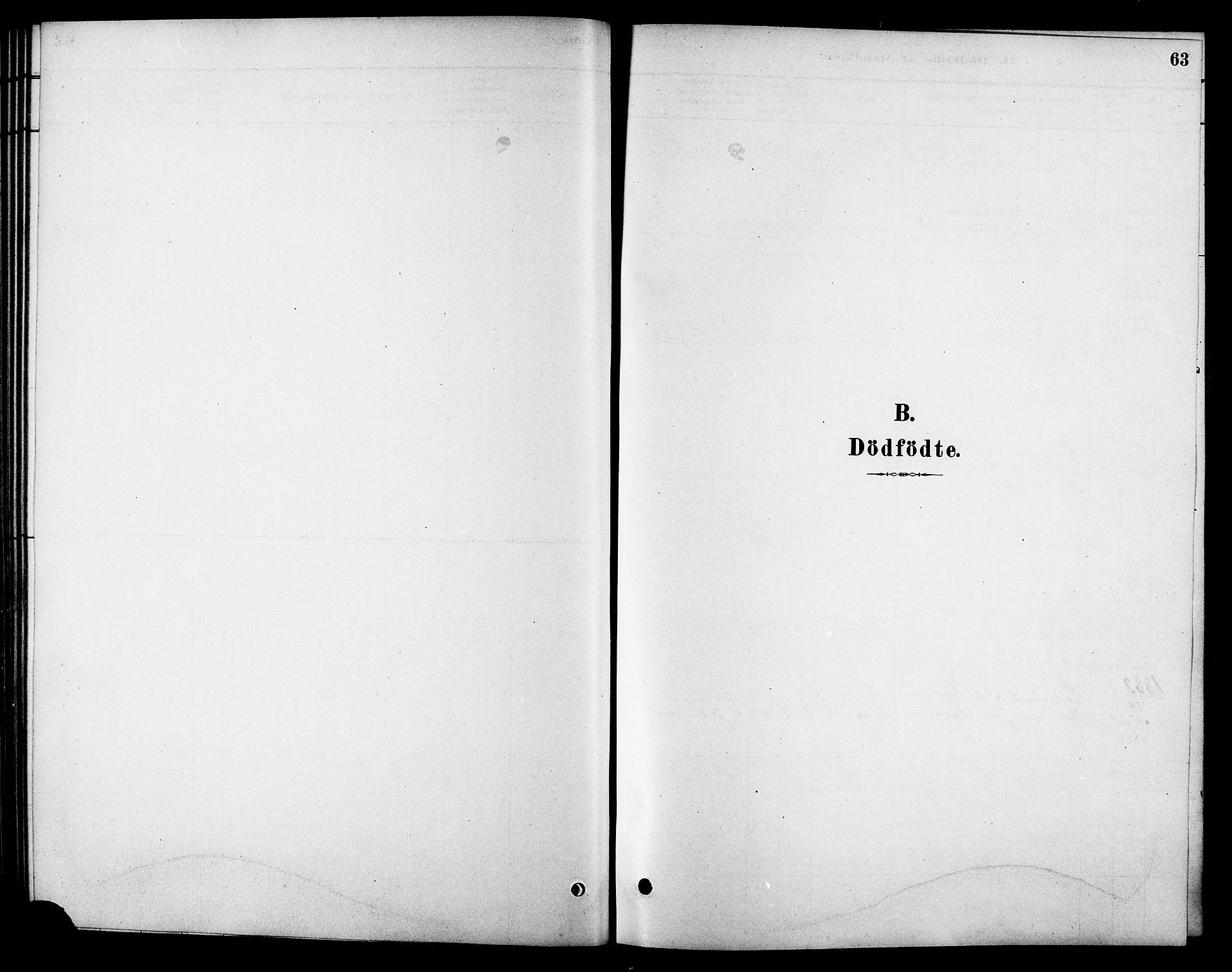 SAT, Ministerialprotokoller, klokkerbøker og fødselsregistre - Sør-Trøndelag, 688/L1024: Ministerialbok nr. 688A01, 1879-1890, s. 63