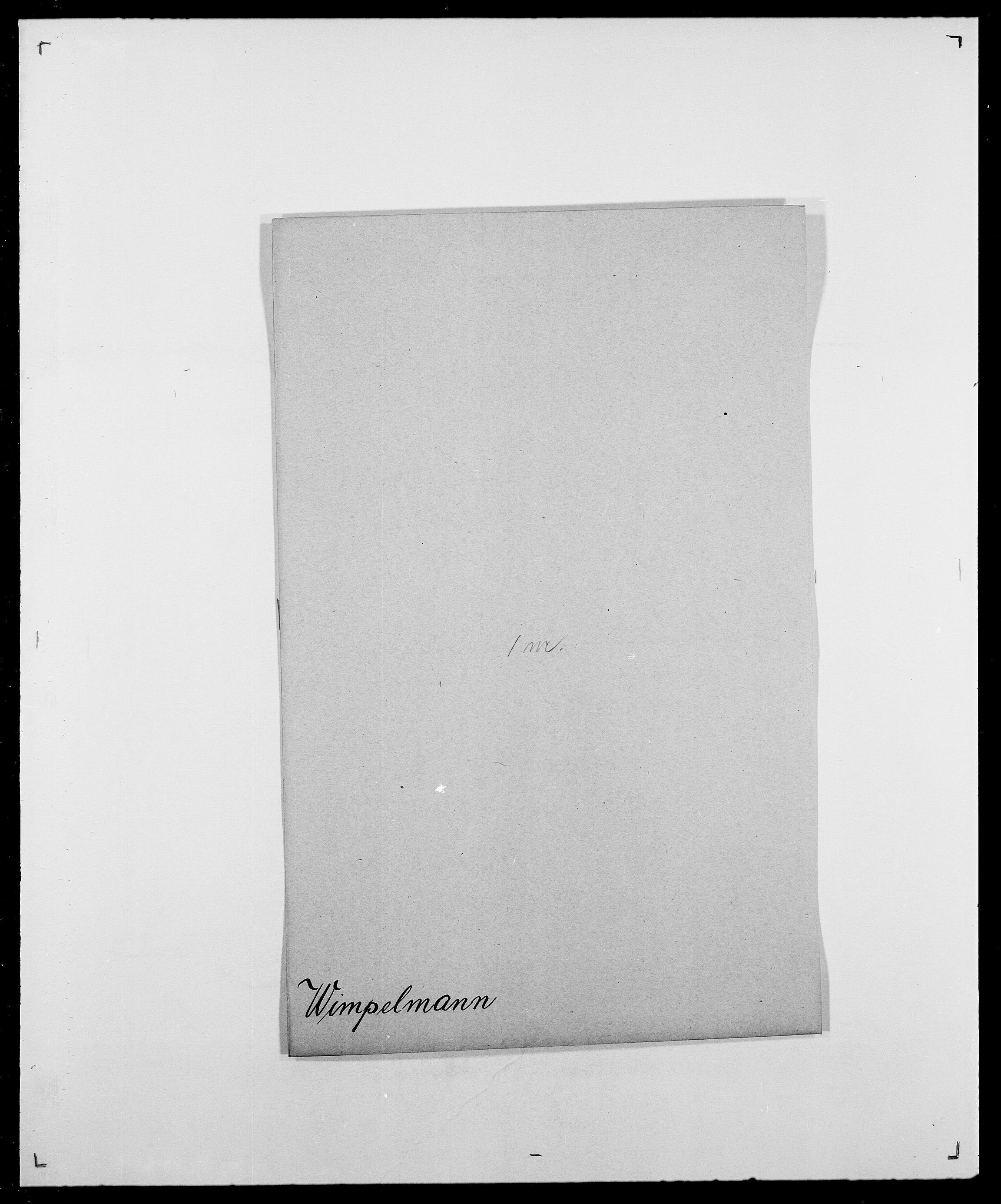 SAO, Delgobe, Charles Antoine - samling, D/Da/L0042: Vilain - Wulf, Wulff, se også Wolf, s. 125