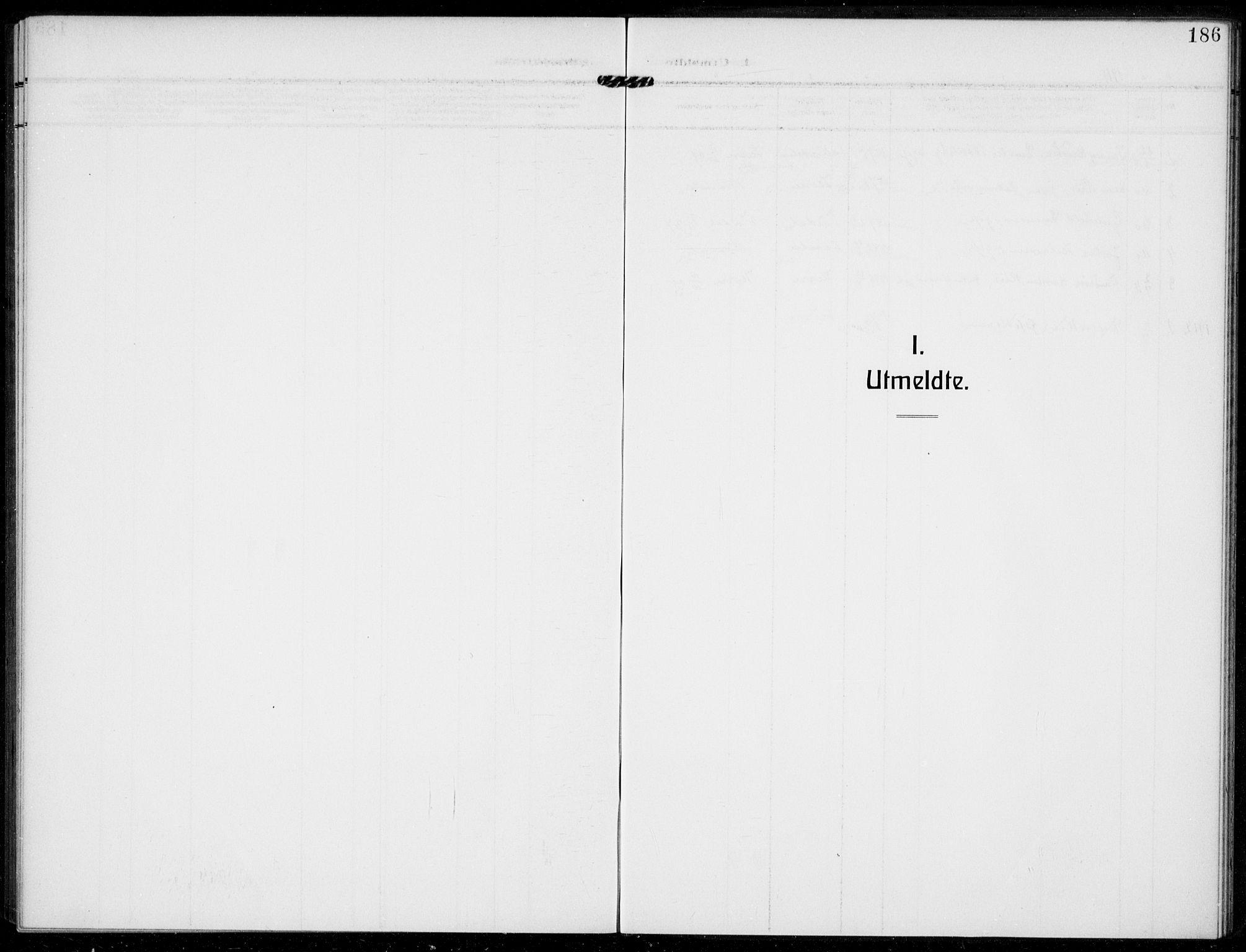 SAKO, Bamble kirkebøker, F/Fc/L0001: Ministerialbok nr. III 1, 1909-1916, s. 186