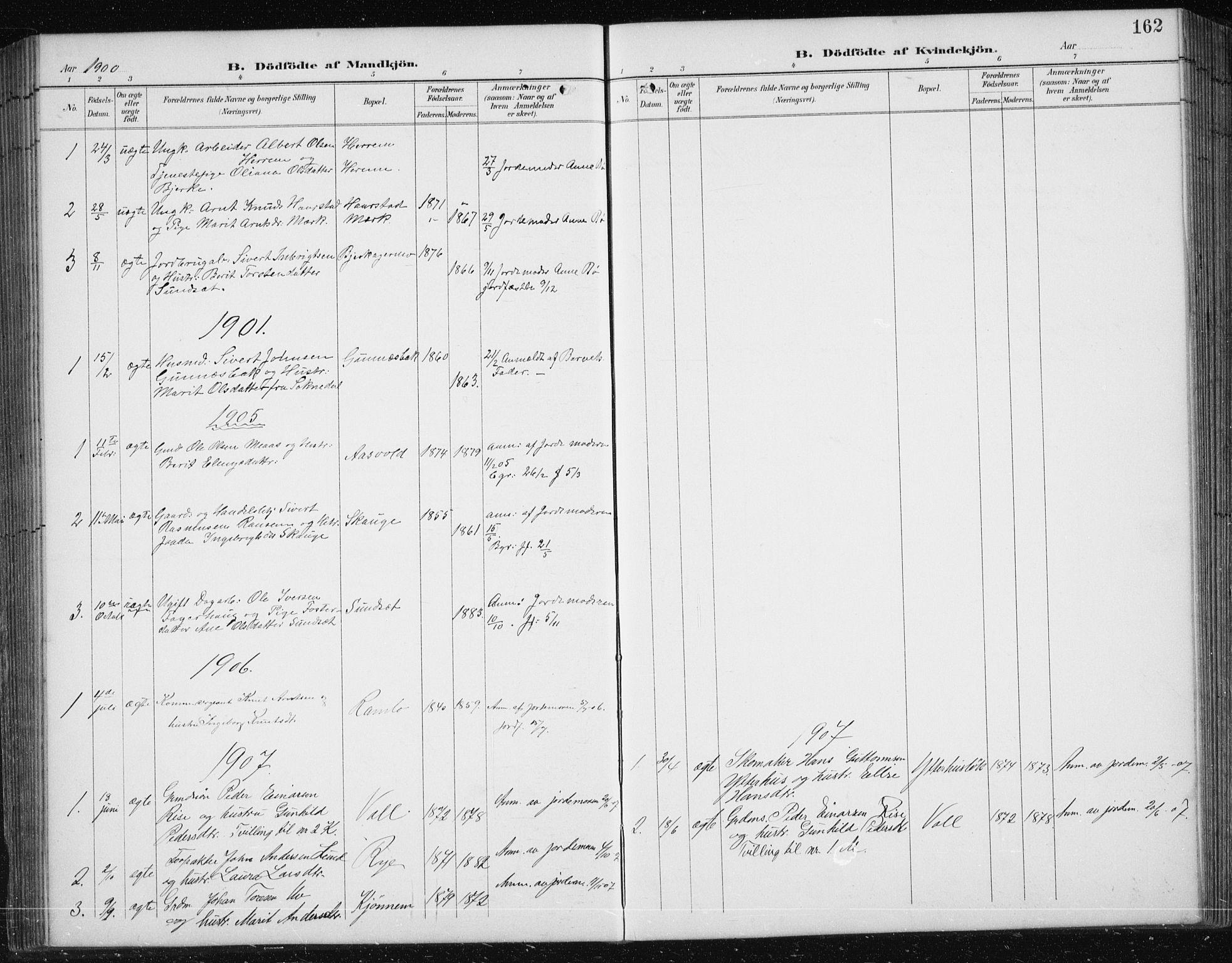 SAT, Ministerialprotokoller, klokkerbøker og fødselsregistre - Sør-Trøndelag, 674/L0876: Klokkerbok nr. 674C03, 1892-1912, s. 162