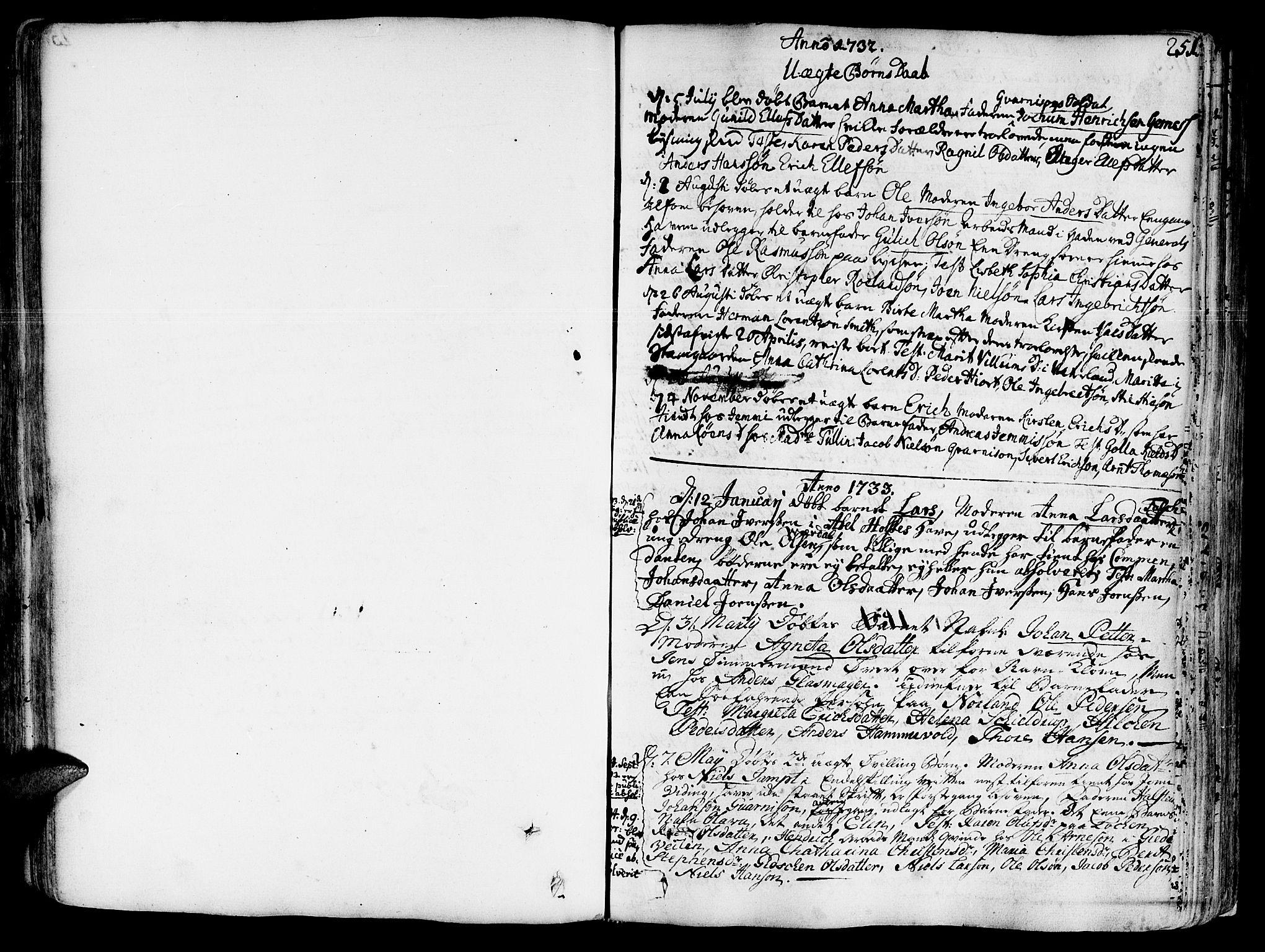 SAT, Ministerialprotokoller, klokkerbøker og fødselsregistre - Sør-Trøndelag, 602/L0103: Ministerialbok nr. 602A01, 1732-1774, s. 251