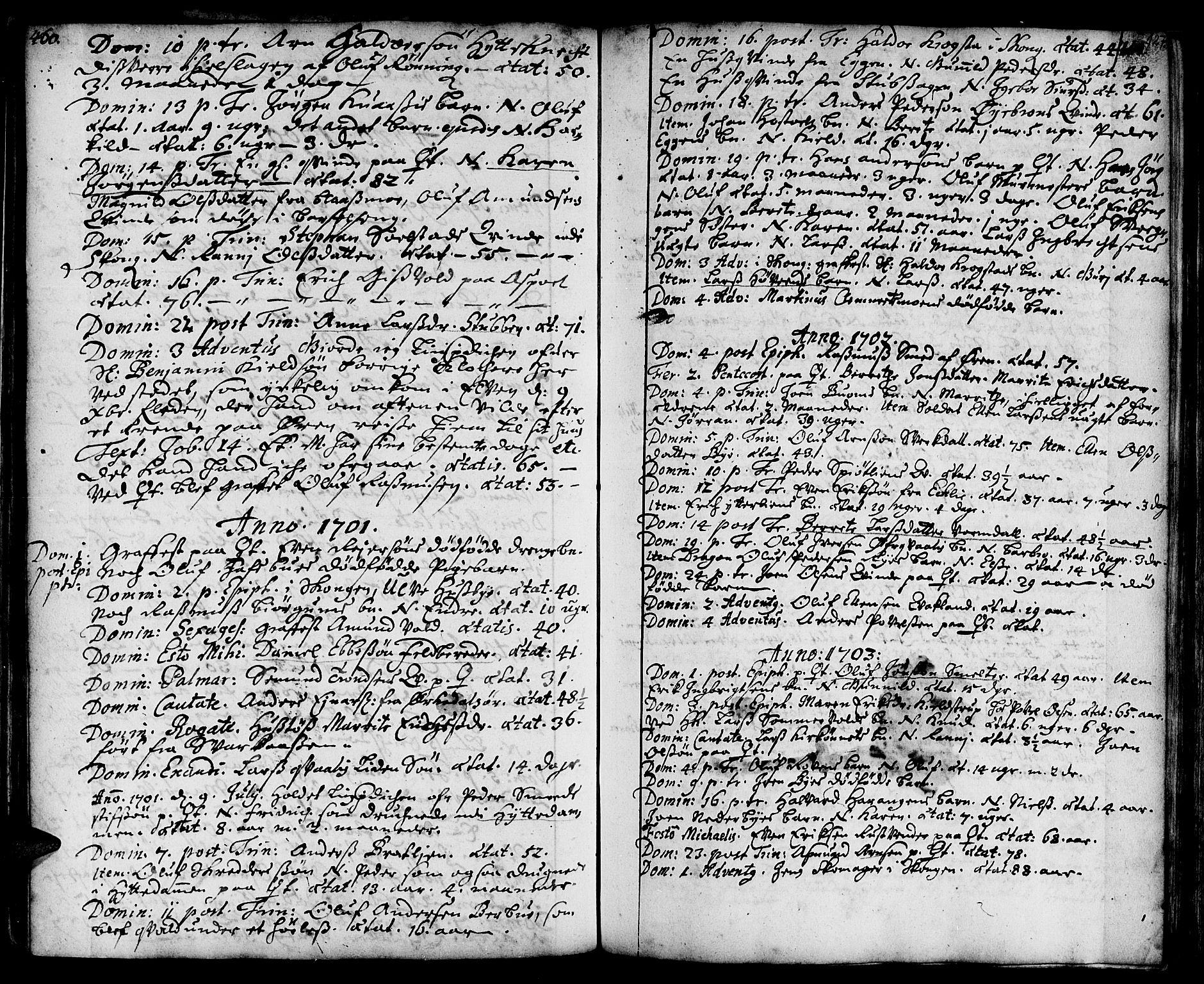 SAT, Ministerialprotokoller, klokkerbøker og fødselsregistre - Sør-Trøndelag, 668/L0801: Ministerialbok nr. 668A01, 1695-1716, s. 126-127