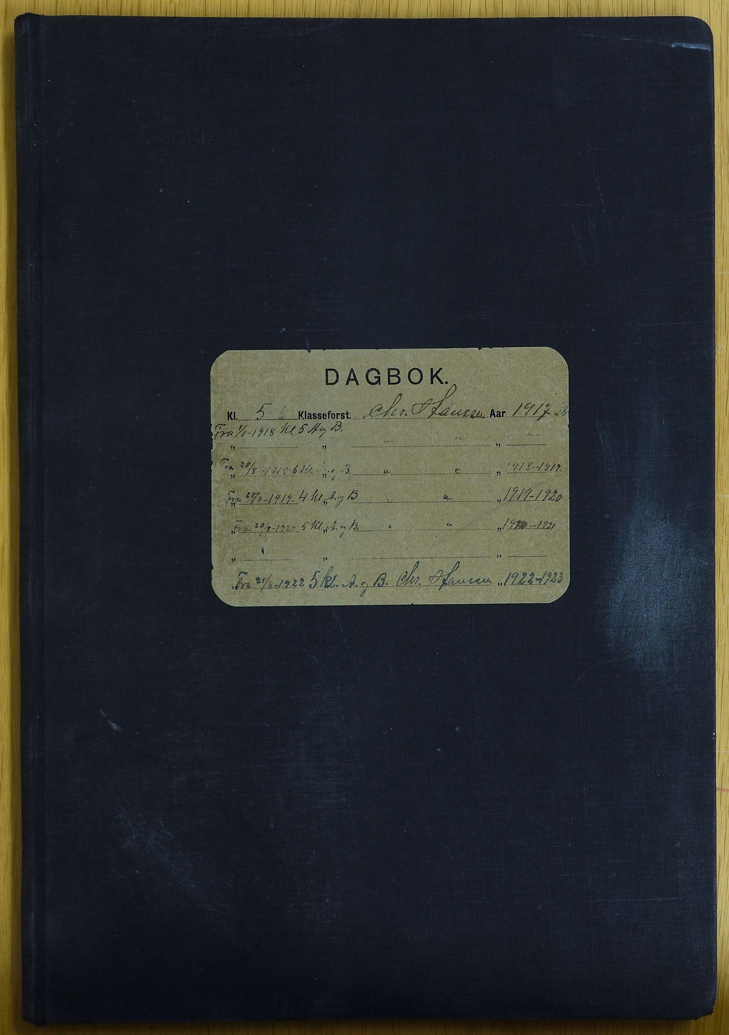 KVT, Vestre Toten kommunearkiv: Raufoss Skole i Vestre Toten kommune. Elevprotokoll 1917-1924 for 4.-6. klasse, 1917-1924