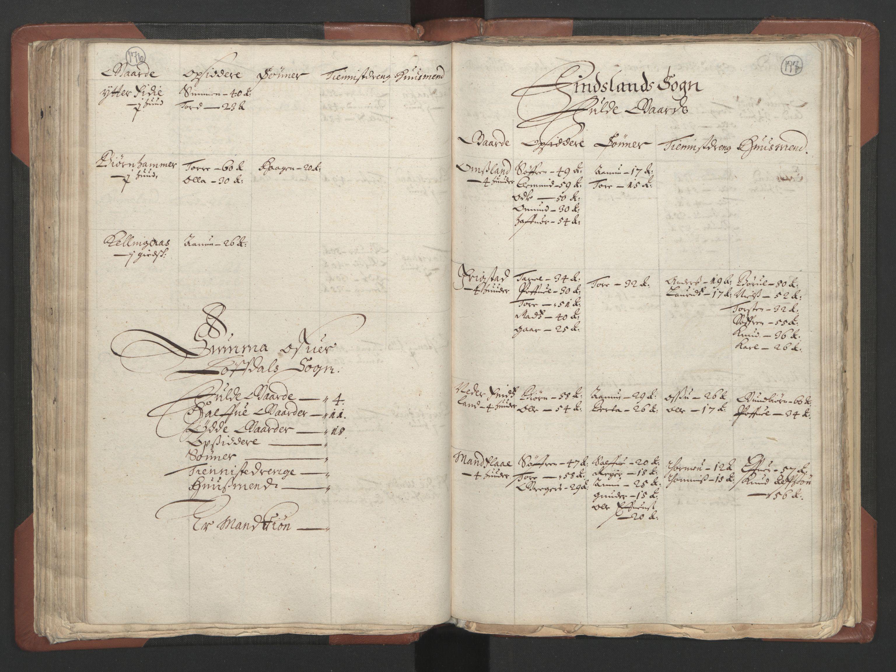 RA, Fogdenes og sorenskrivernes manntall 1664-1666, nr. 9: Mandal len, 1664-1666, s. 176-177