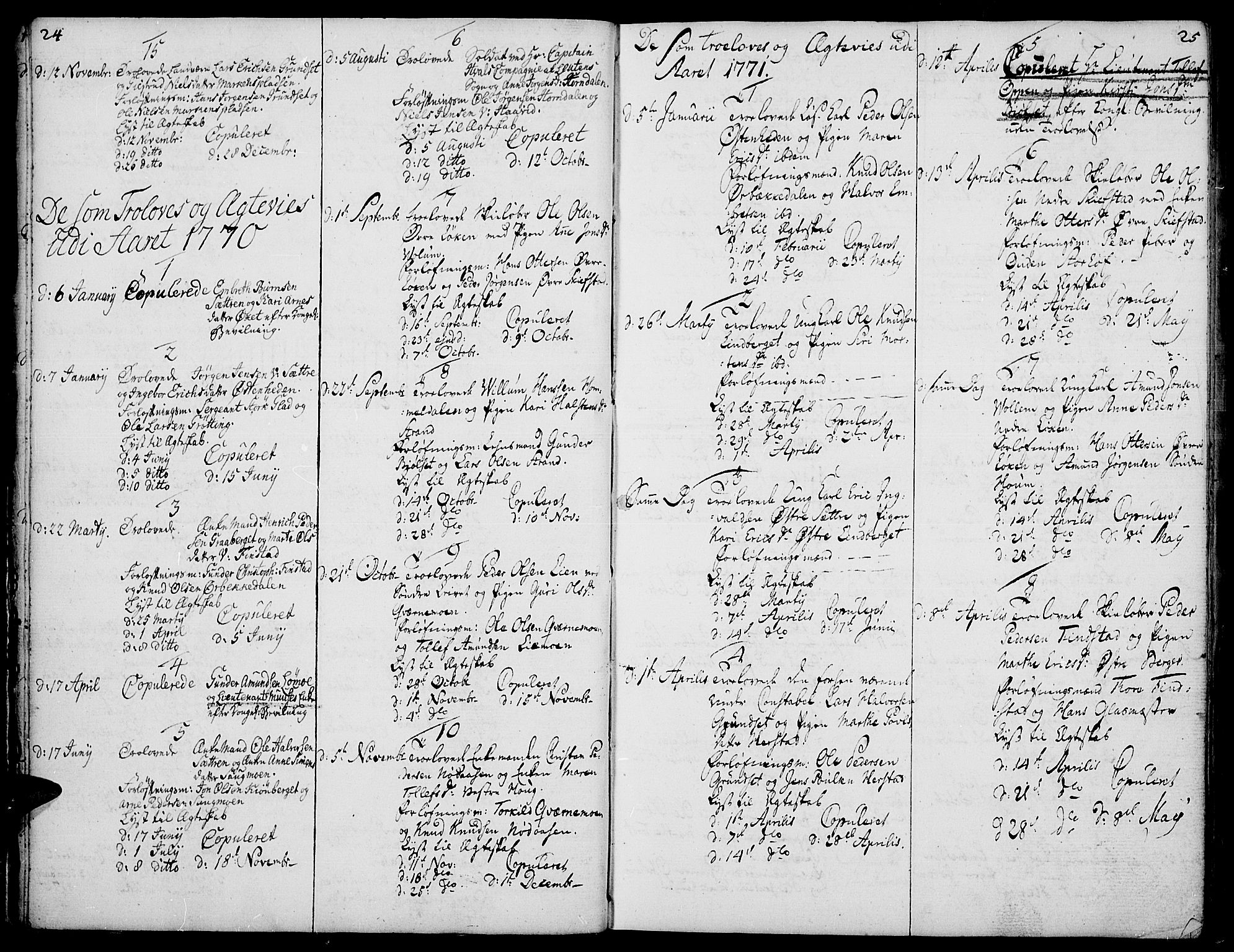 SAH, Elverum prestekontor, H/Ha/Haa/L0003: Ministerialbok nr. 3, 1757-1776, s. 24-25