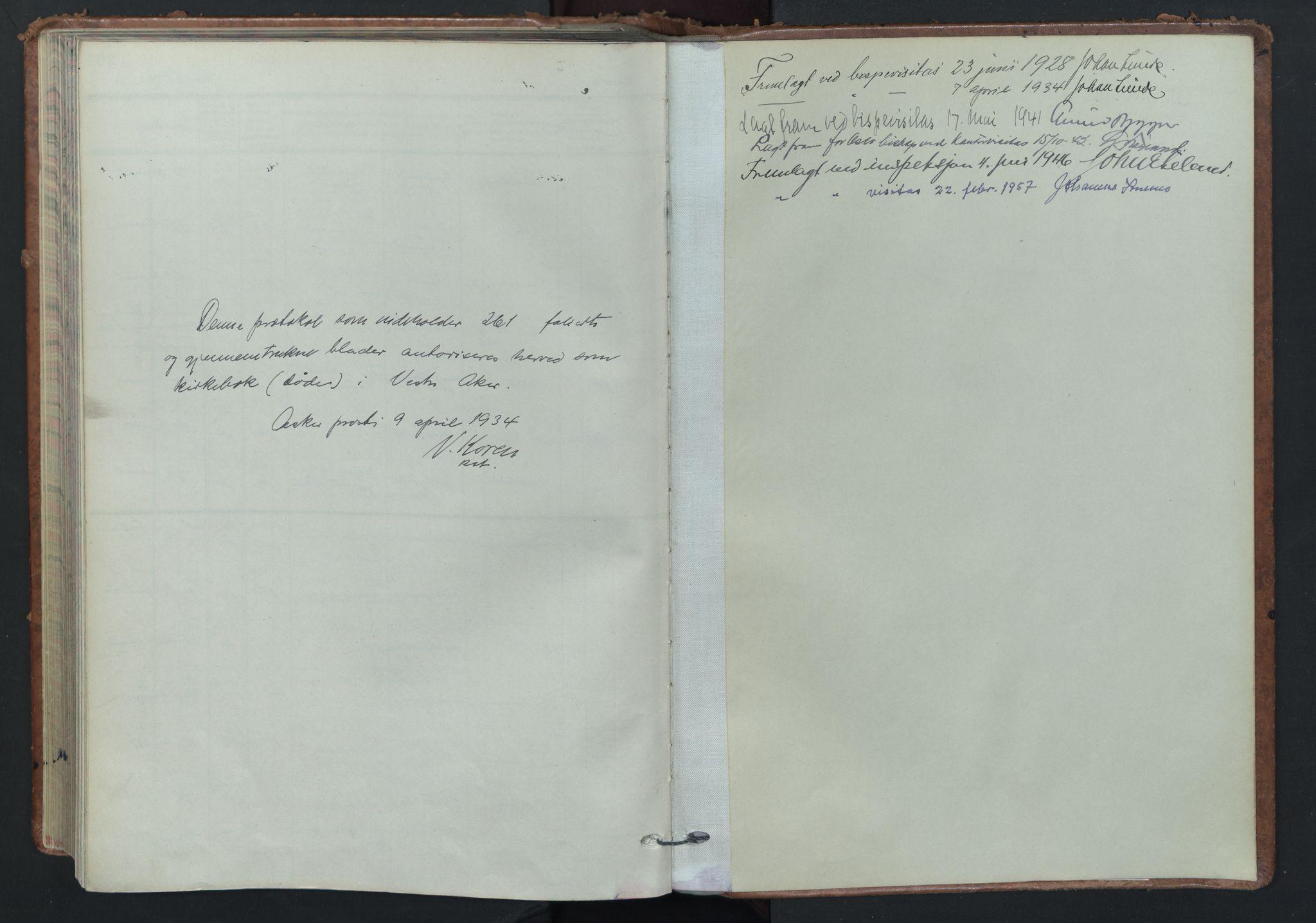 SAO, Vestre Aker prestekontor Kirkebøker, F/Fa/L0019: Ministerialbok nr. 19, 1926-1946