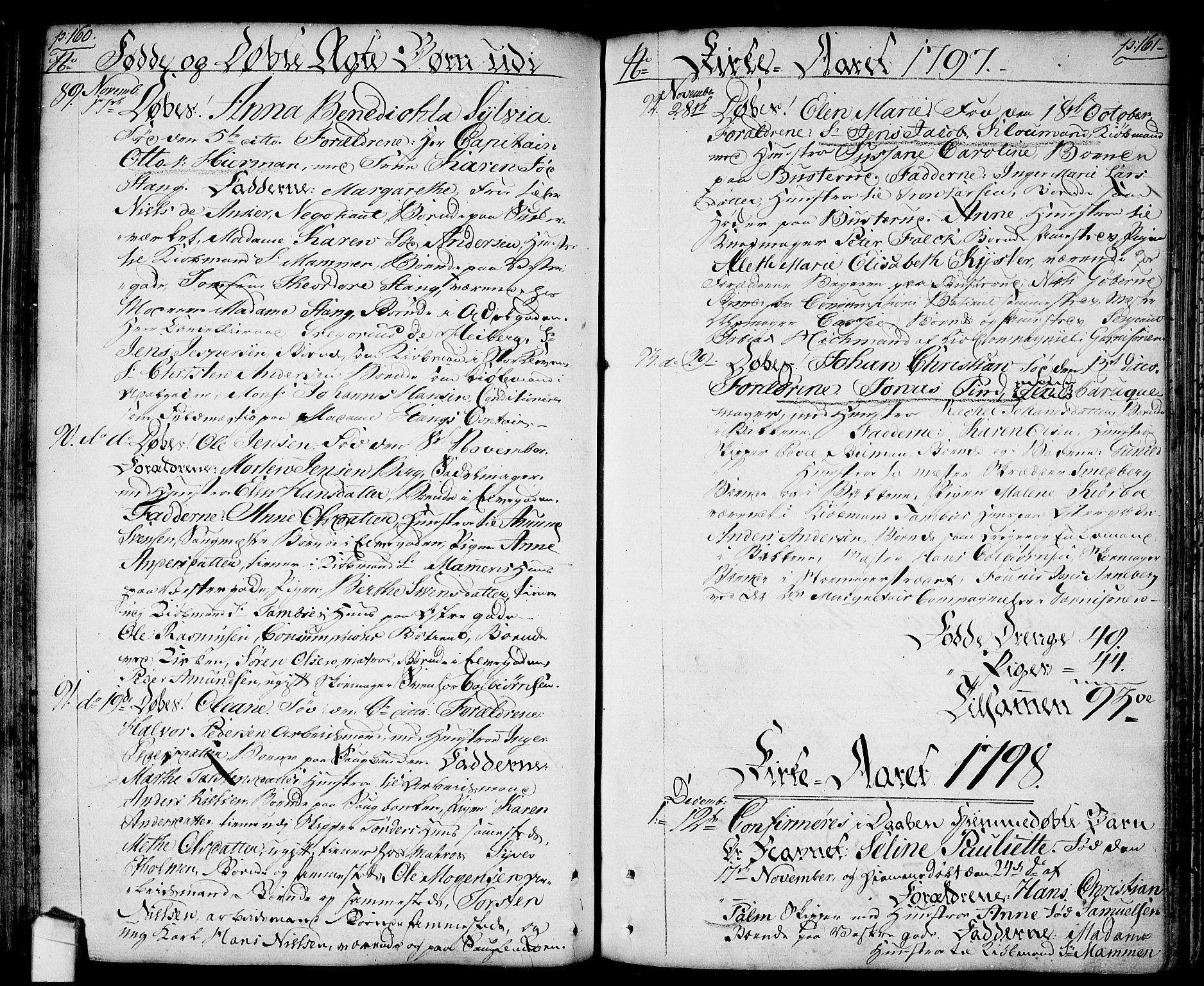 SAO, Halden prestekontor Kirkebøker, F/Fa/L0002: Ministerialbok nr. I 2, 1792-1812, s. 160-161