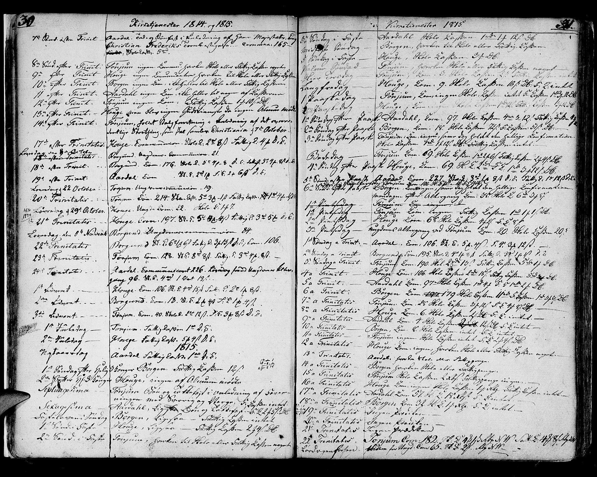 SAB, Lærdal sokneprestembete, Ministerialbok nr. A 4, 1805-1821, s. 30-31