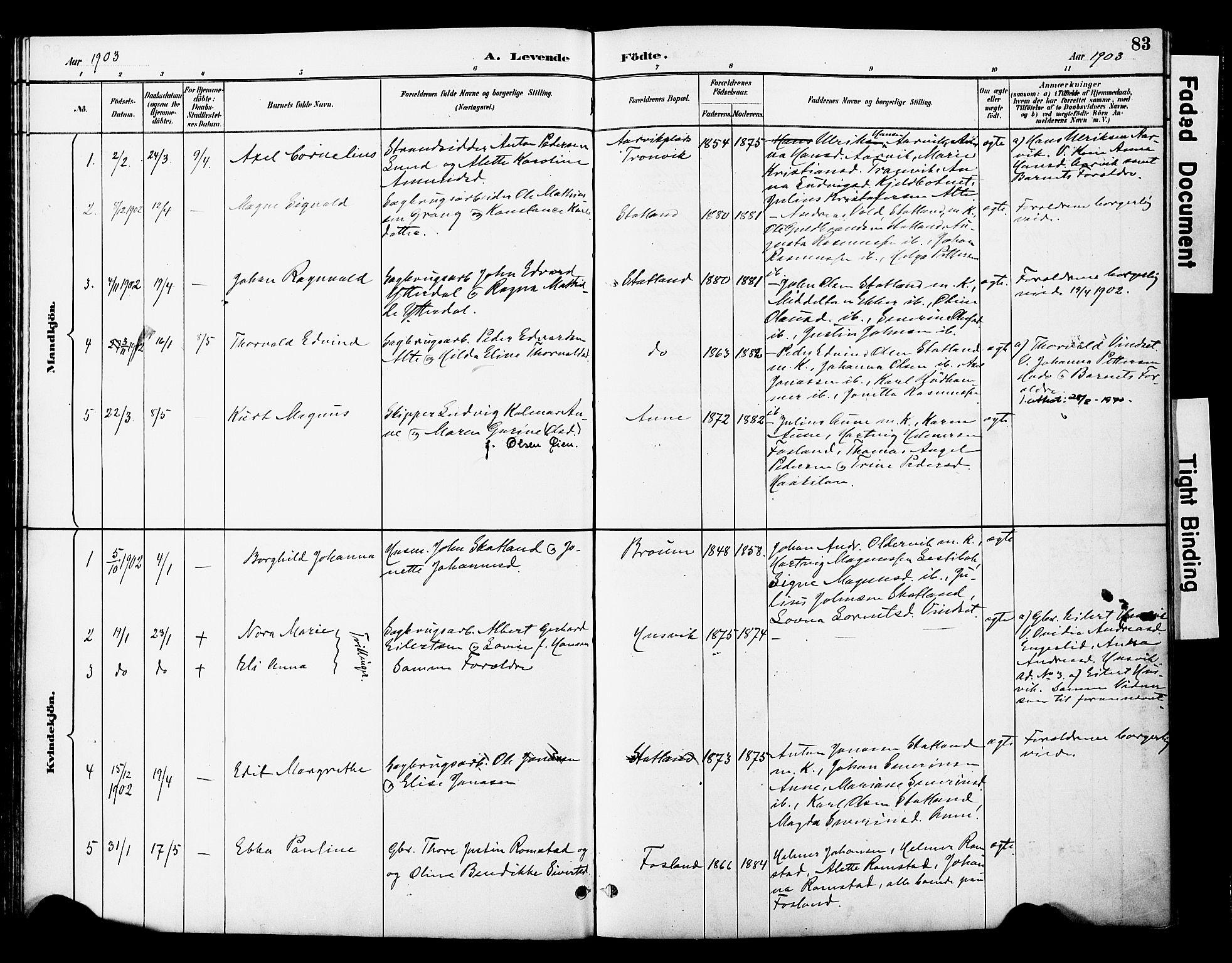 SAT, Ministerialprotokoller, klokkerbøker og fødselsregistre - Nord-Trøndelag, 774/L0628: Ministerialbok nr. 774A02, 1887-1903, s. 83