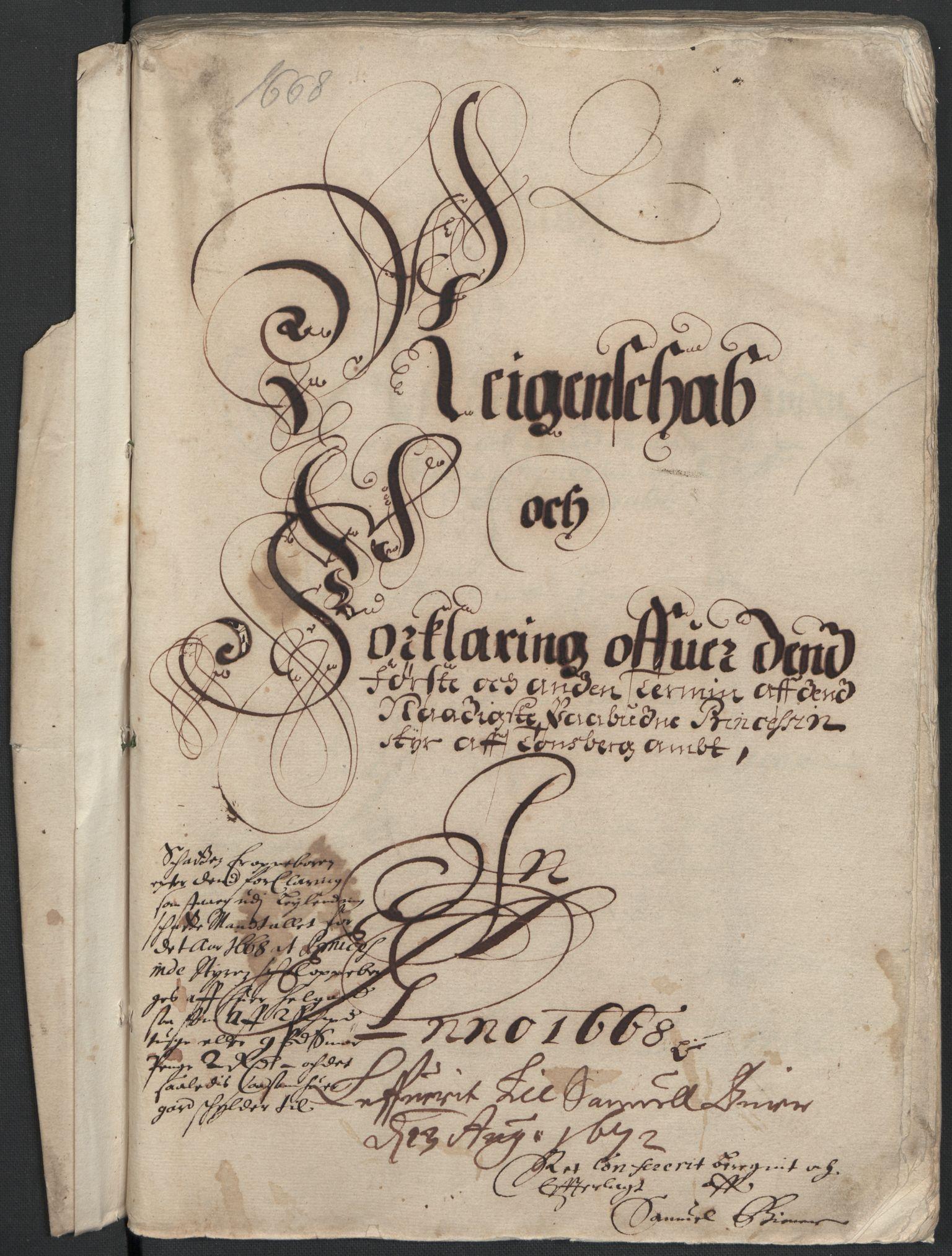 RA, Rentekammeret inntil 1814, Reviderte regnskaper, Fogderegnskap, R32/L1840: Fogderegnskap Jarlsberg grevskap, 1664-1673, s. 171
