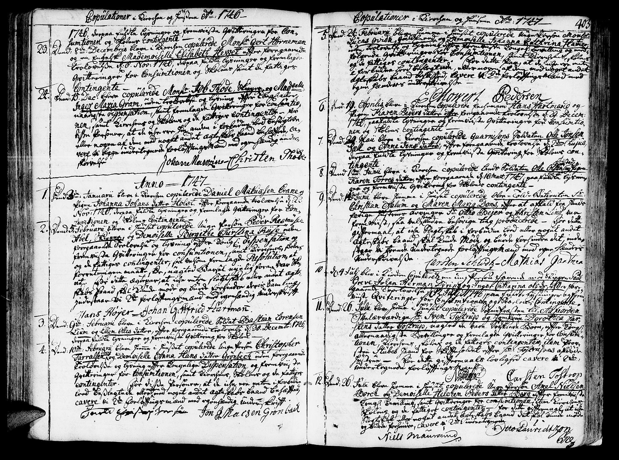 SAT, Ministerialprotokoller, klokkerbøker og fødselsregistre - Sør-Trøndelag, 602/L0103: Ministerialbok nr. 602A01, 1732-1774, s. 403